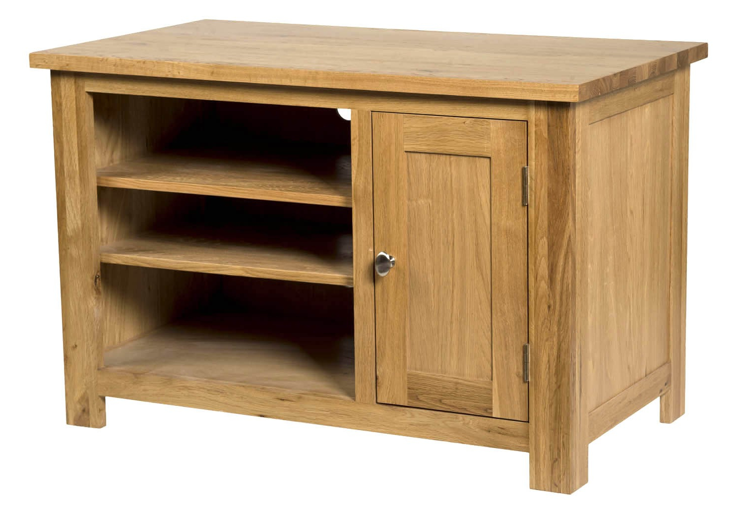 Preferred Waverly Oak Small Compact Tv Stand With Cabinet Storage (Gallery 19 of 20)