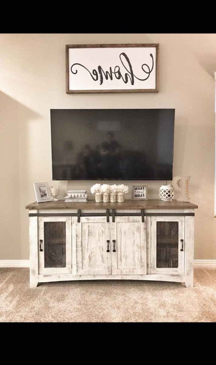 Preferred White Rustic Tv Stands Throughout Rustic Tv Stand With Barn Doors Under $100 Farmhouse 70 Inch Door (View 11 of 20)