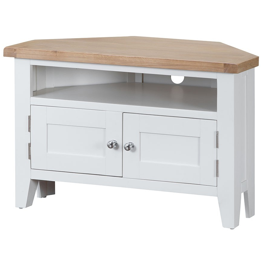 Featured Photo of White Wood Corner Tv Stands