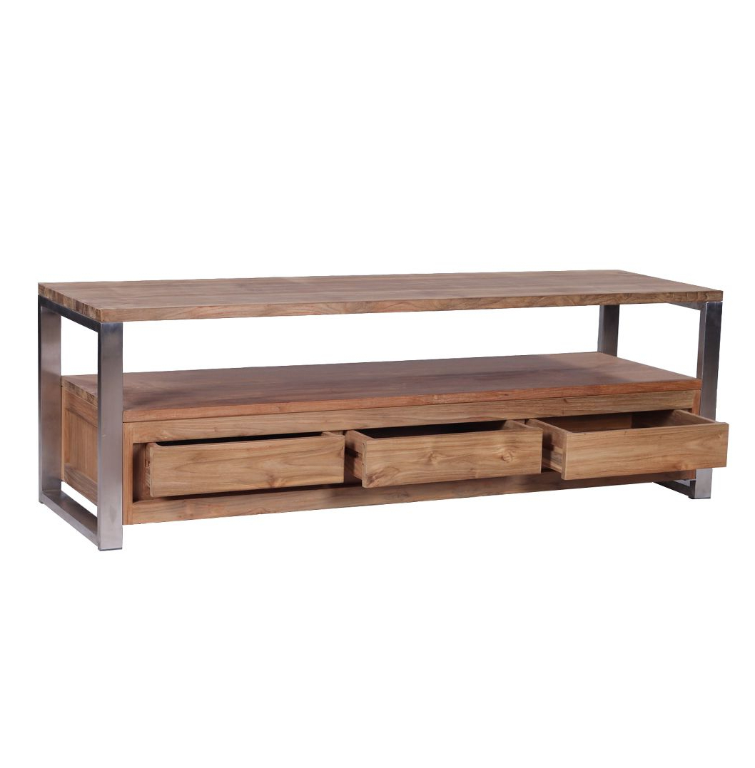 Preferred Wood And Metal Industrial Tv Stands – Google Search (View 7 of 20)