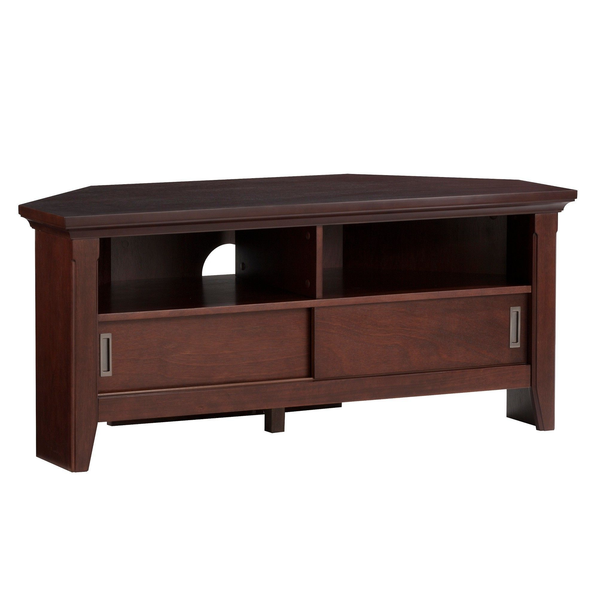 Products Intended For Dark Brown Corner Tv Stands (View 14 of 20)