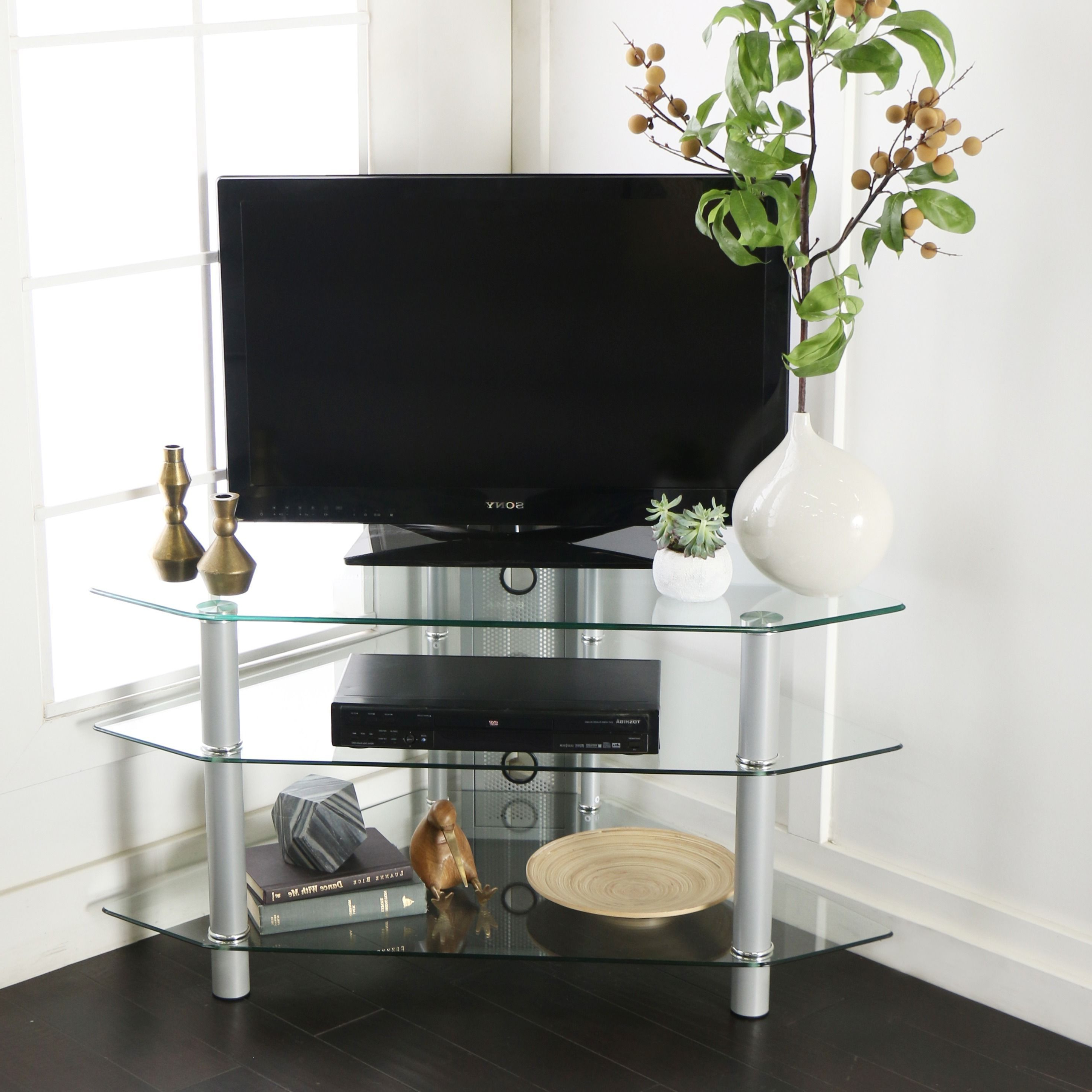 Products Regarding Silver Corner Tv Stands (View 11 of 20)