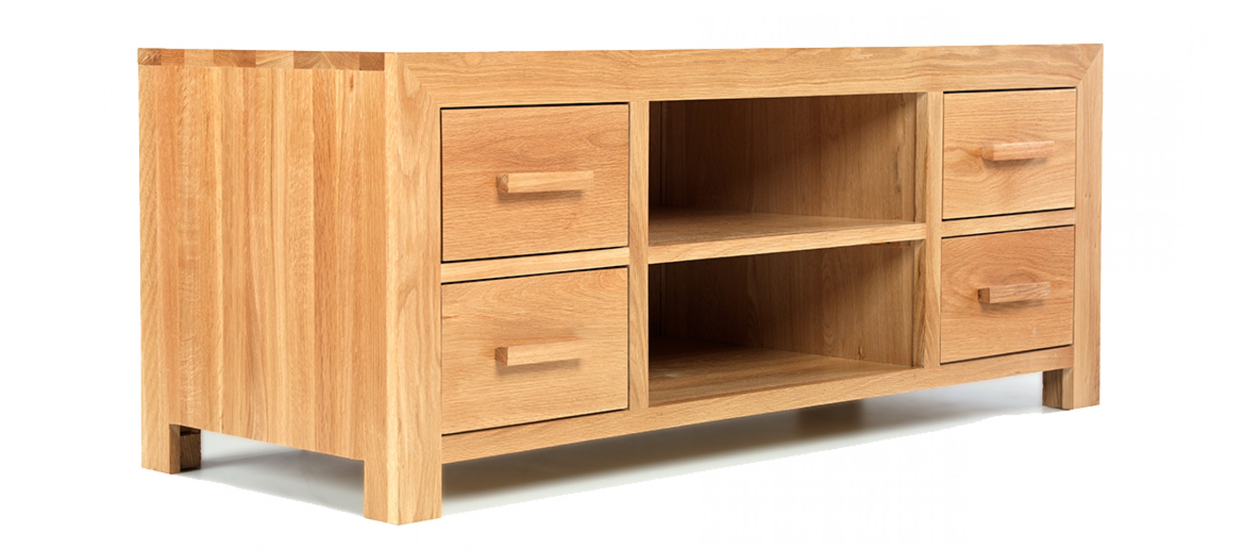 Quercus Living In Fashionable Solid Oak Tv Cabinets (Gallery 2 of 20)