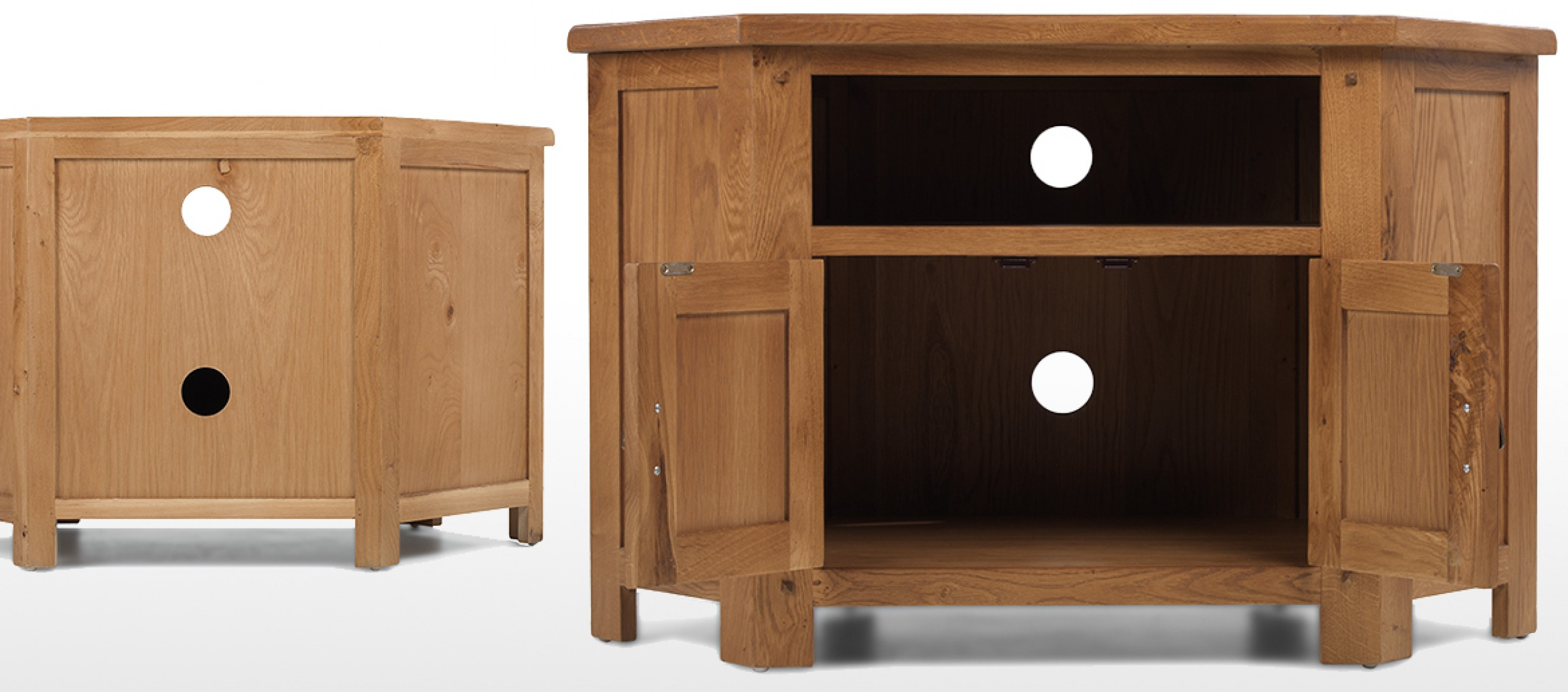Quercus Living Pertaining To Recent Corner Oak Tv Stands (View 16 of 20)