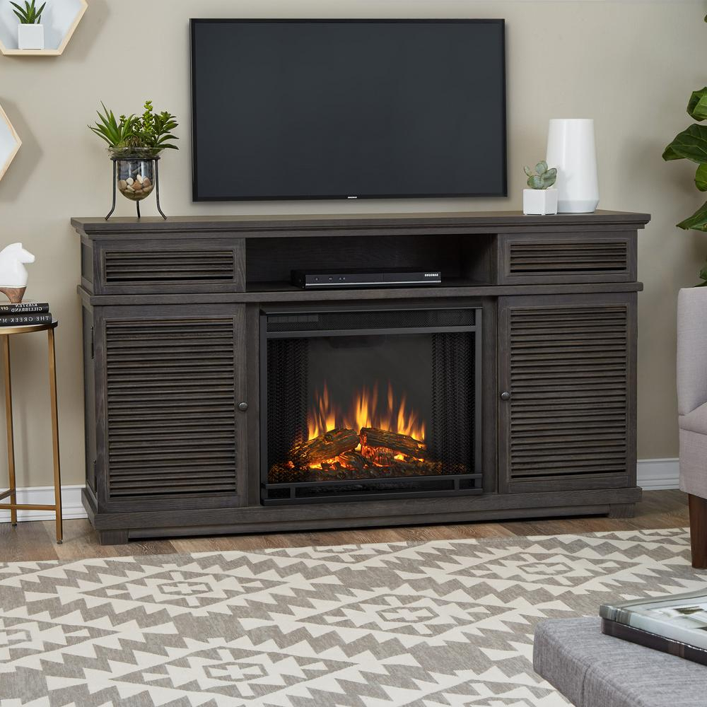 Real Flame Cavallo 59 In. Electric Fireplace Tv Stand Entertainment Pertaining To Best And Newest French Country Tv Cabinets (Gallery 10 of 20)