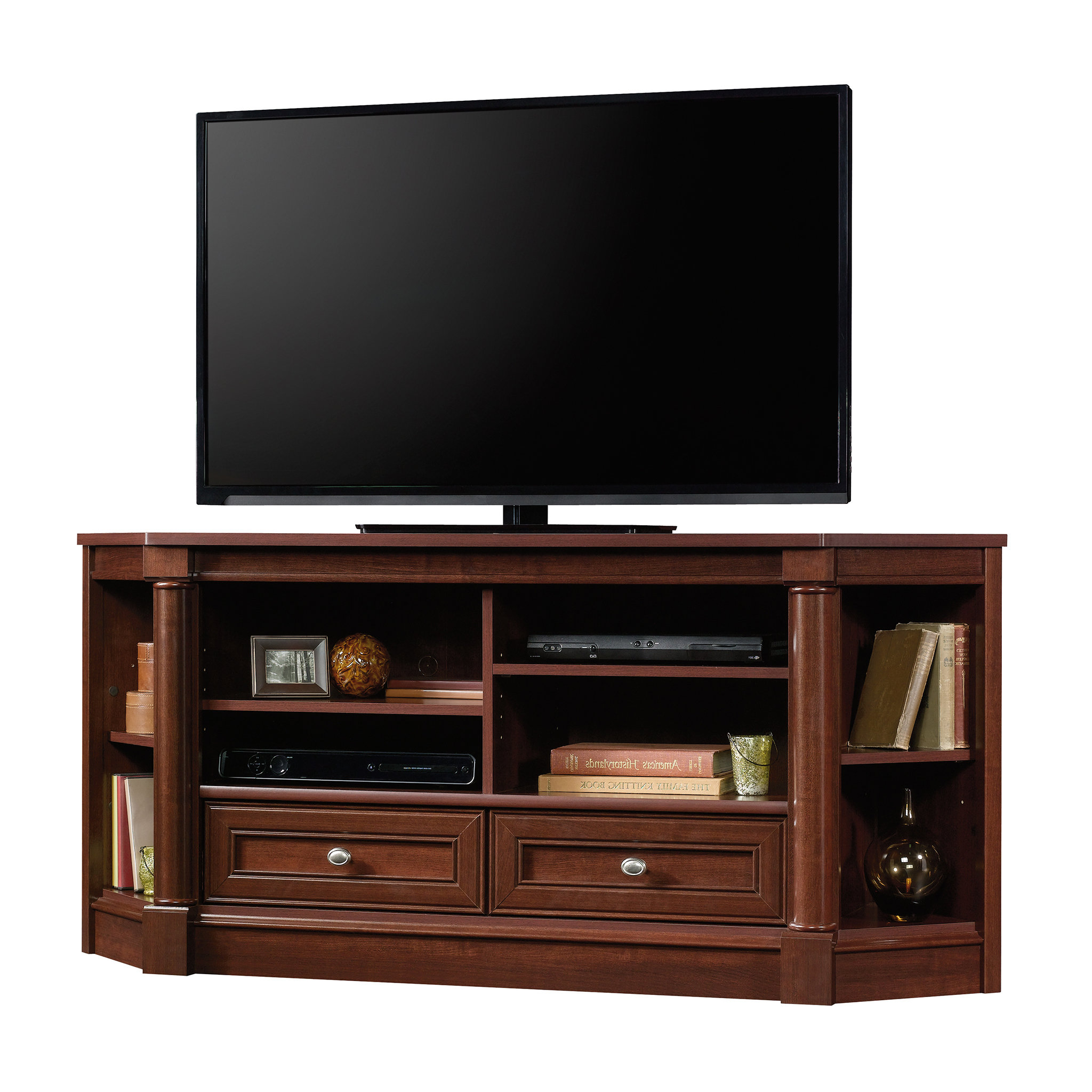 "Real Wood Corner Tv Stands For 2018 Orviston Corner Tv Stand For Tvs Up To 60"" & Reviews (View 5 of 20)"