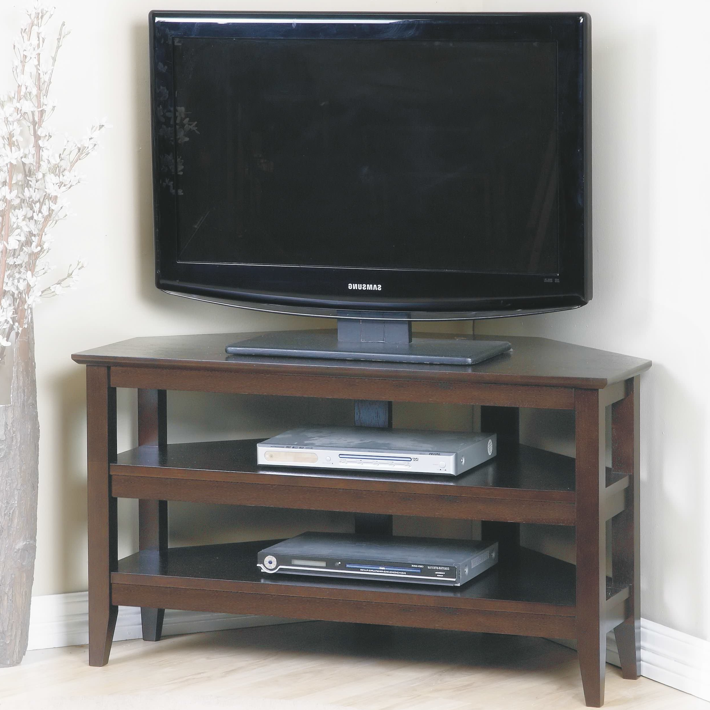 Real Wood Corner Tv Stands Regarding Newest Solid Wood Corner Tv Stands You'll Love (View 15 of 20)