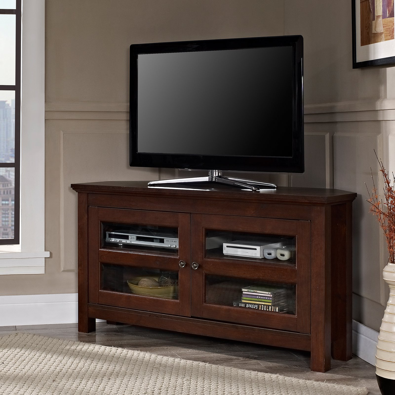 Real Wood Corner Tv Stands With Best And Newest Reclaimed Wood Tv Console Real Stands For Flat Screens Solid Corner (View 17 of 20)