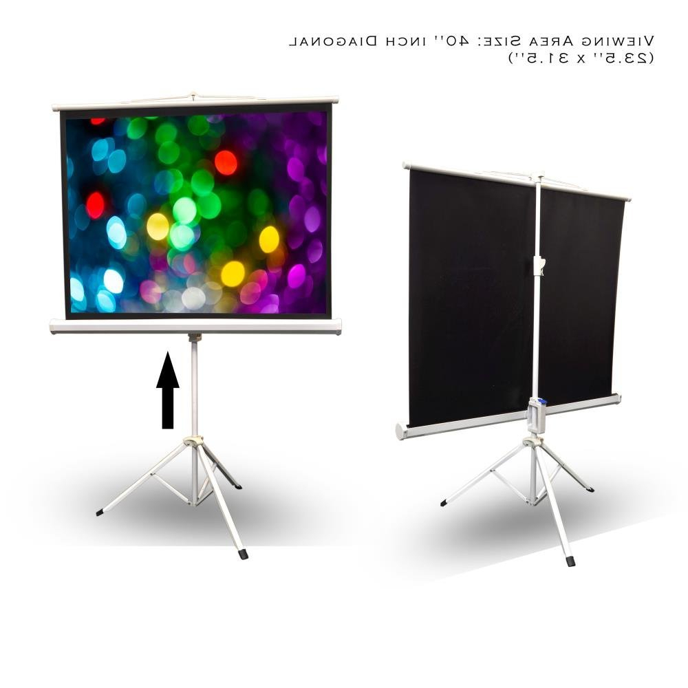 Recent Amazon: Portable Projector Screen Tripod Stand – Mobile For Lauderdale 74 Inch Tv Stands (View 15 of 20)