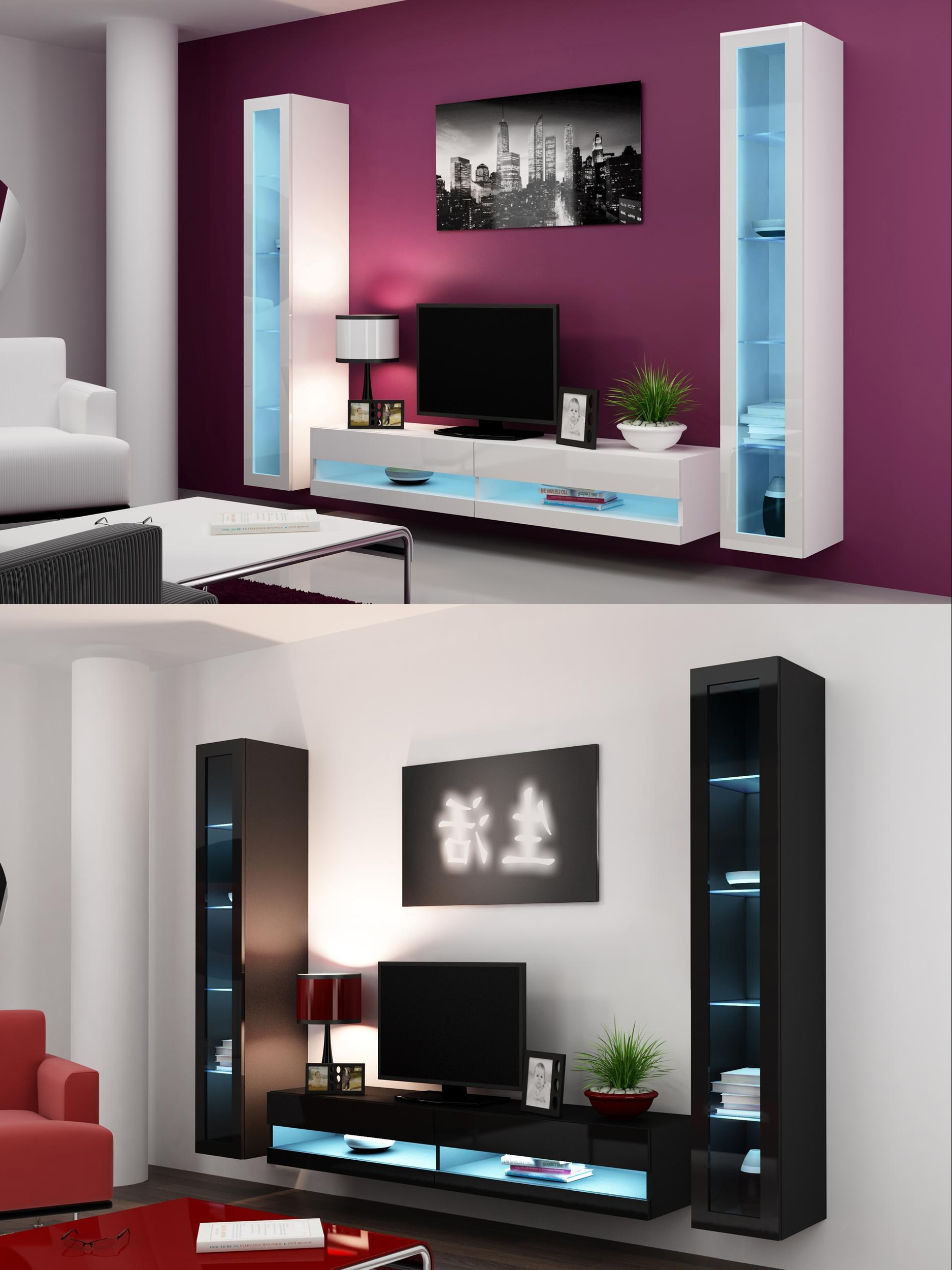 Recent Appealing Living Tv Wall Cabinets Wall Mounted Tv Cabinet Design Intended For Tv Wall Cabinets (Gallery 15 of 20)