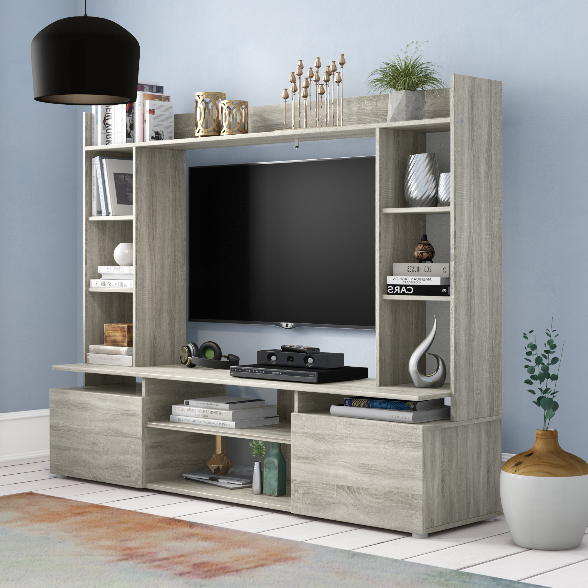 Recent Bedroom Tv Shelves Within Entertainment Units You'll Love (View 16 of 20)