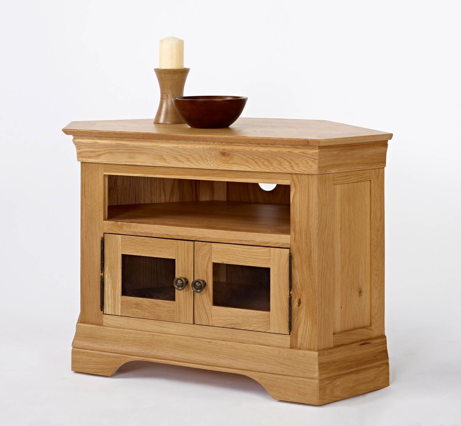Recent Bordeaux Oak Corner Tv Cabinet – Be Home Furniture Inside Small Oak Corner Tv Stands (View 8 of 20)