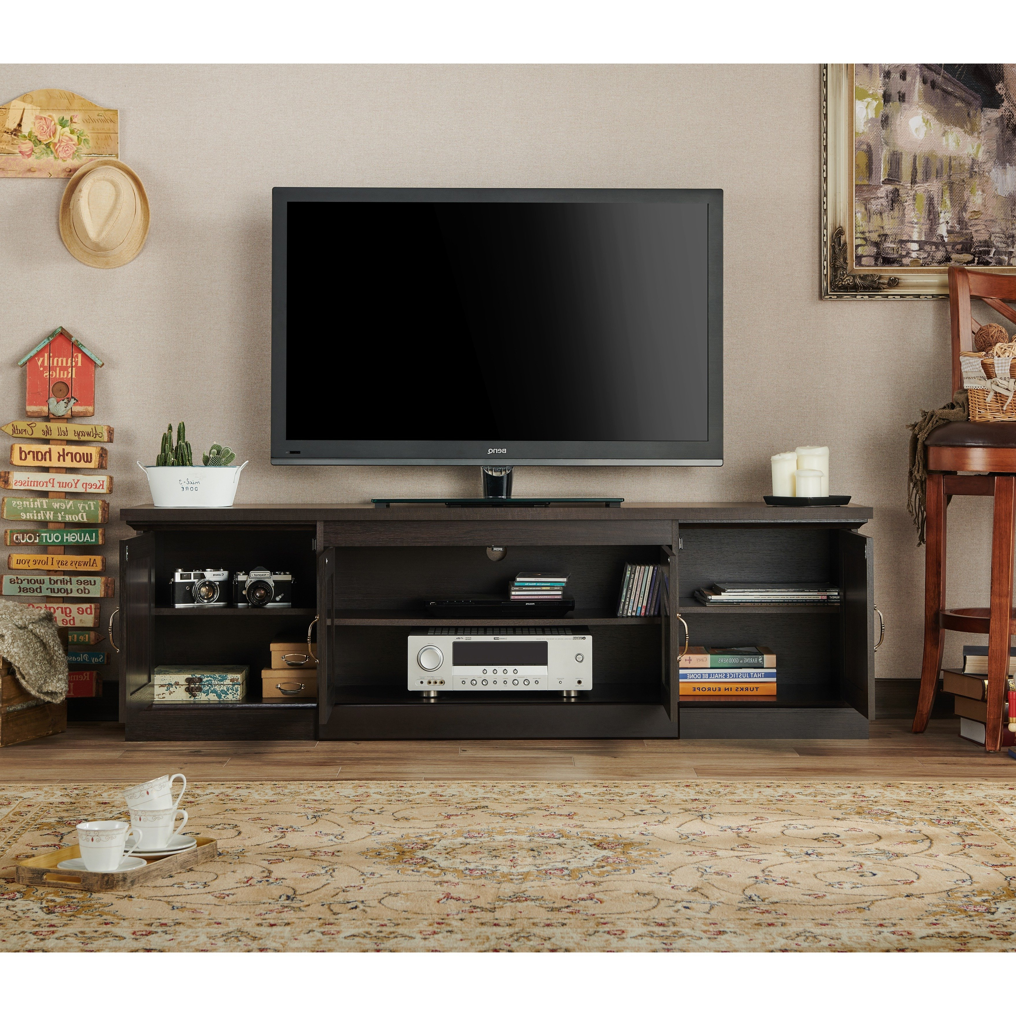Recent Casey Umber 74 Inch Tv Stands With Shop Walder Rustic 68 Inch Tv Standfoa – On Sale – Free Shipping (View 3 of 20)