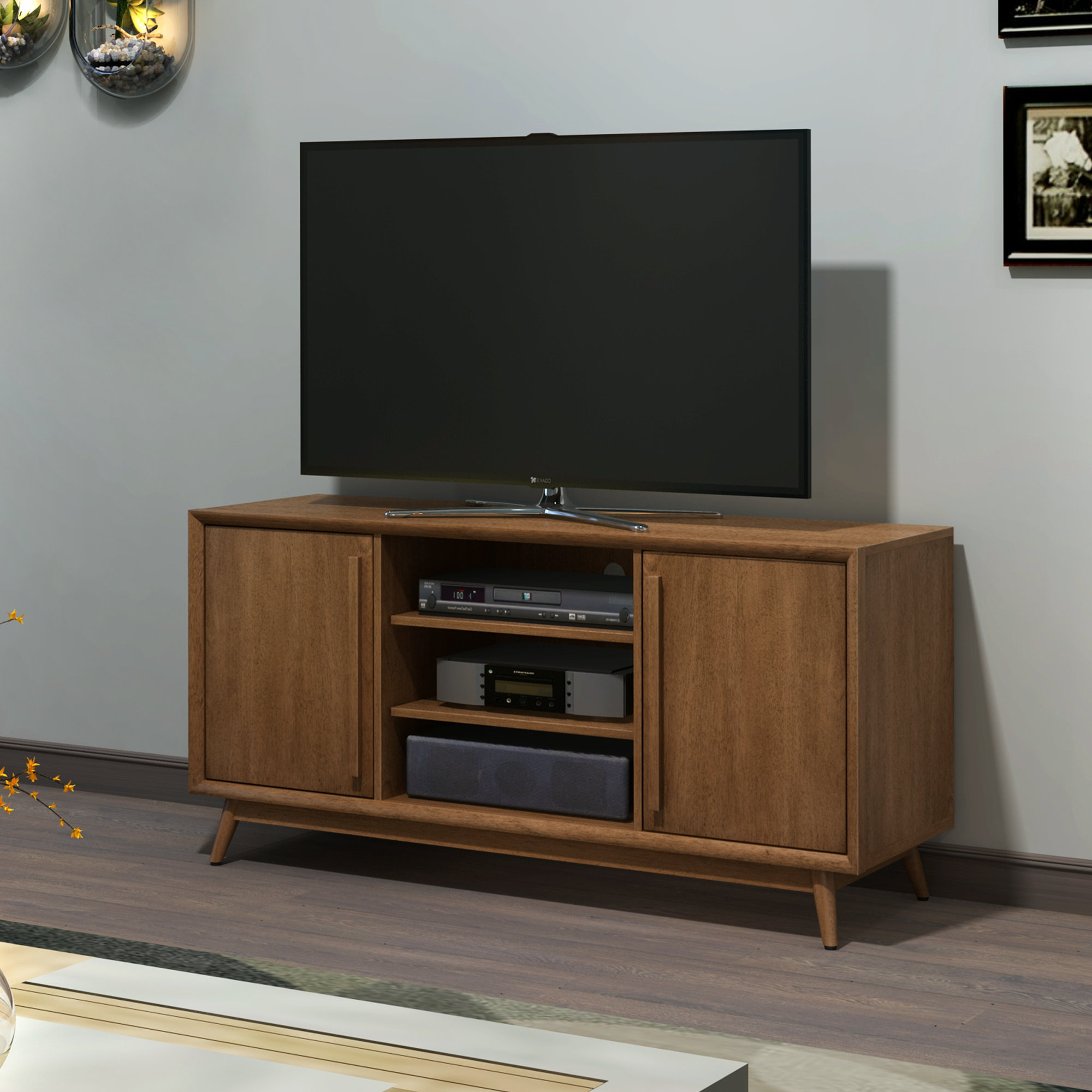 Recent Century Blue 60 Inch Tv Stands Intended For Mid Century Modern Tv Stands You'll Love (View 10 of 20)