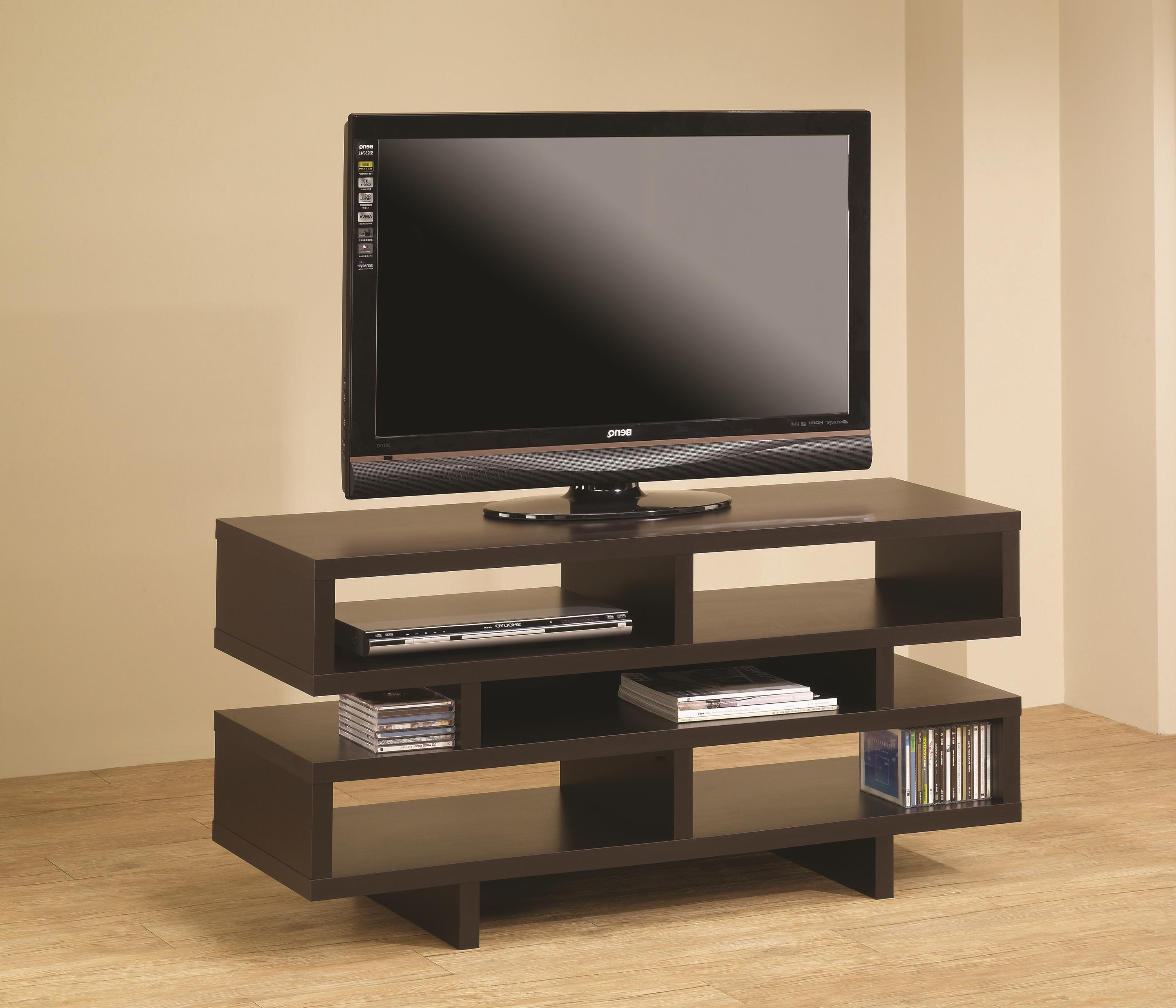 Recent Coaster Tv Stands 700720 Contemporary Tv Console With Open Storage For Cheap Tv Table Stands (View 18 of 20)