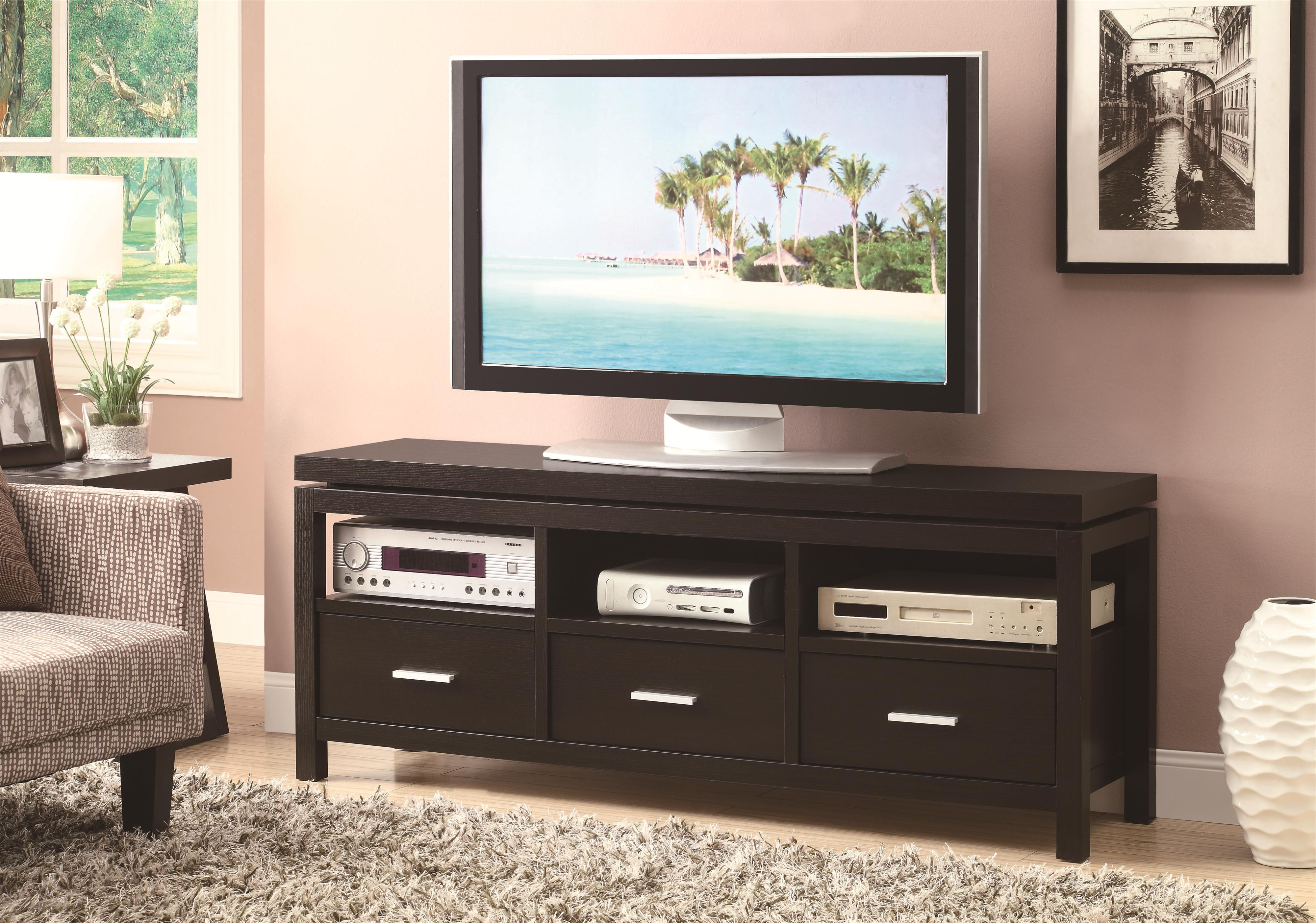 Recent Contemporary Tv Stands Regarding Tv Stands Contemporary Tv Consolecoaster At Lapeer Furniture & Mattress  Center (View 13 of 20)