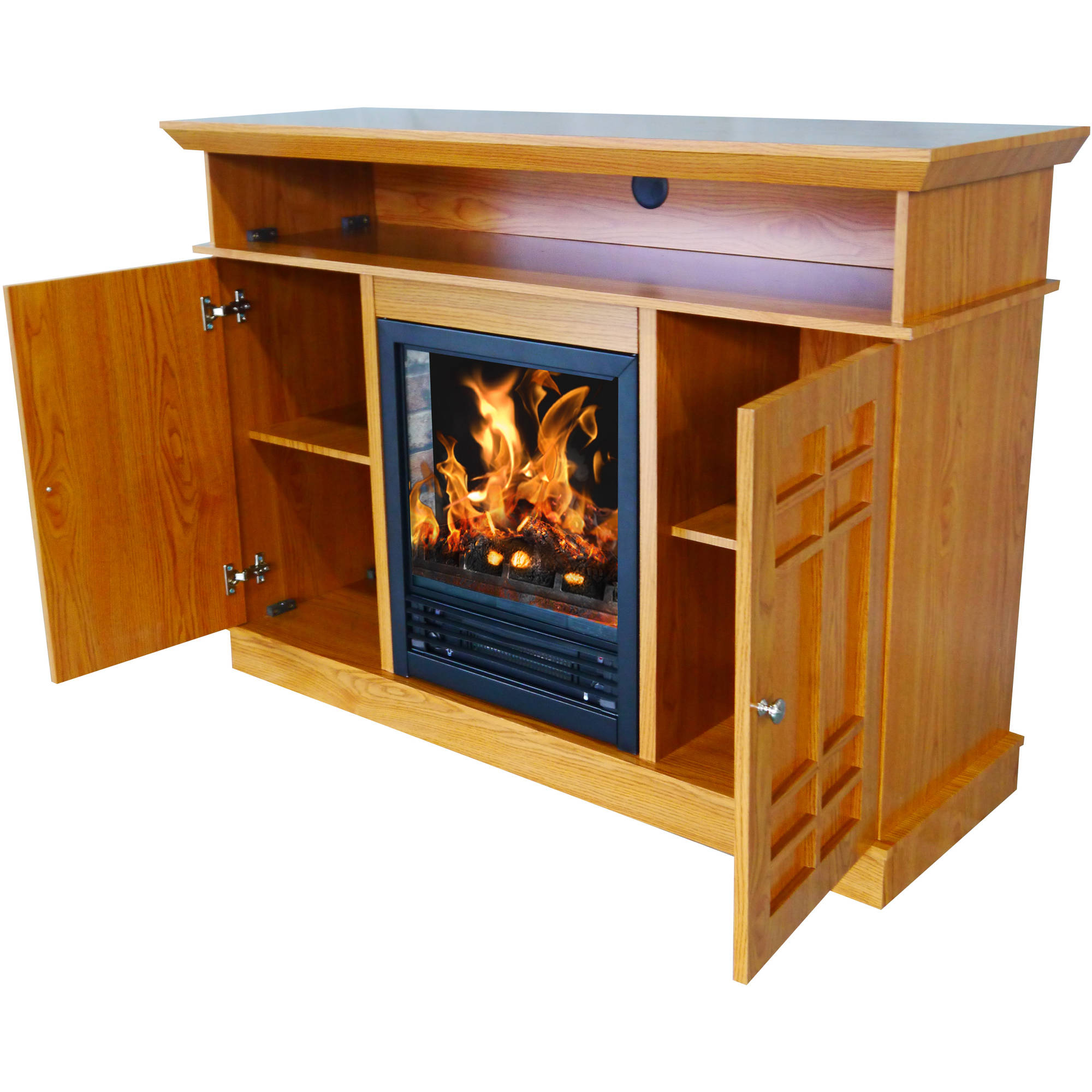 "Recent Décor Flame Bailey 48"" Media Fireplace, For Tvs Up To 55 Intended For Honey Oak Tv Stands (View 16 of 20)"