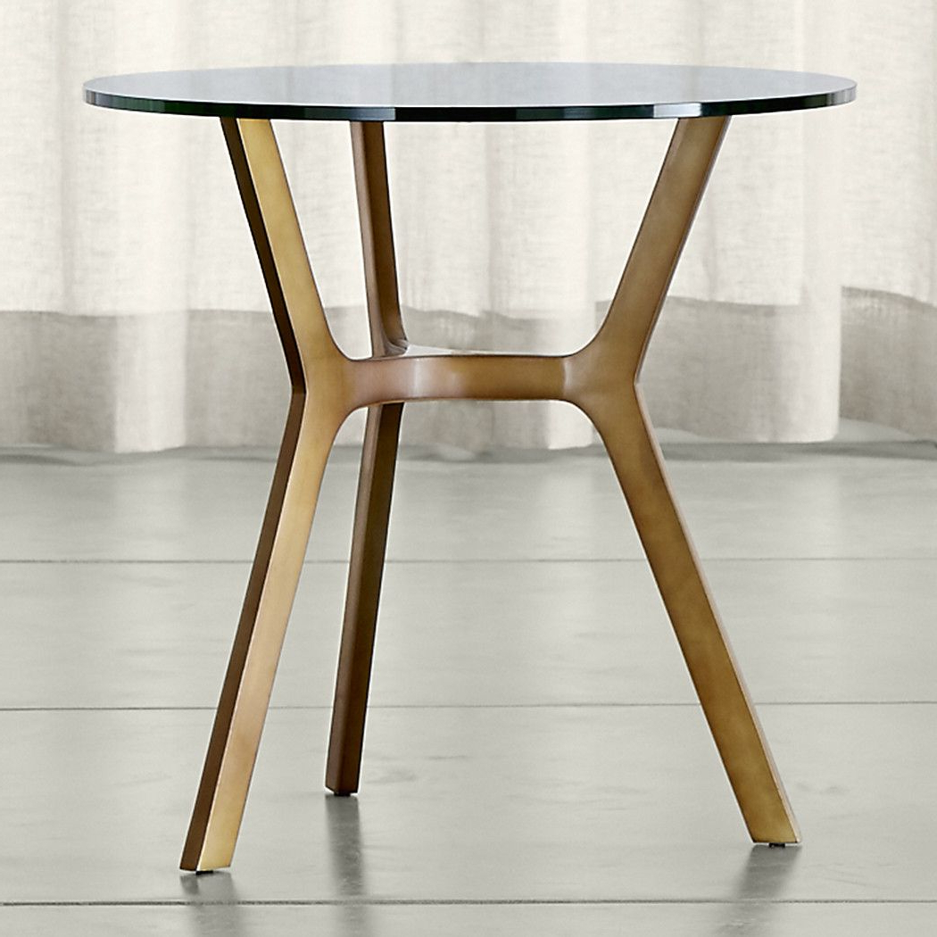 Recent Elke Marble Console Tables With Brass Base Inside Elke Glass End Table With Brass Base (View 11 of 20)