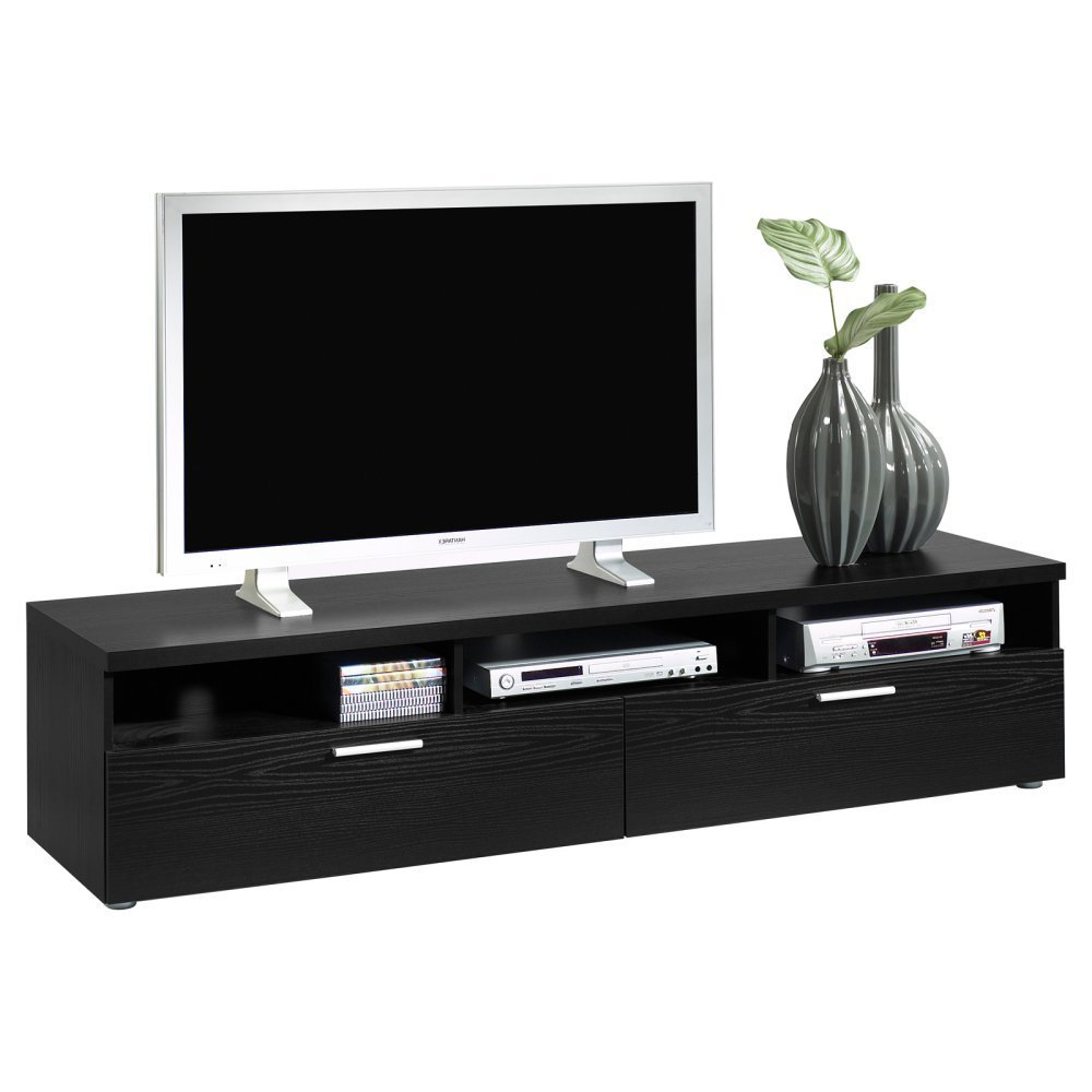 Recent Furniture: 70 Inch Tv Stand With Tv And Decorative Plant In The With Annabelle Black 70 Inch Tv Stands (View 19 of 20)