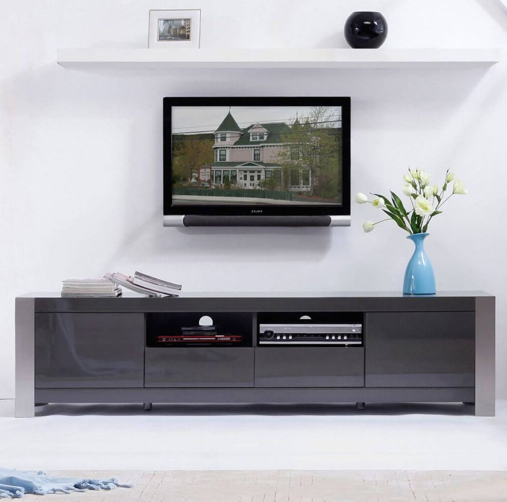 Recent Furniture: Elegant Reflective Finish Contemporary Modern Tv Stand Inside Contemporary Modern Tv Stands (Gallery 3 of 20)
