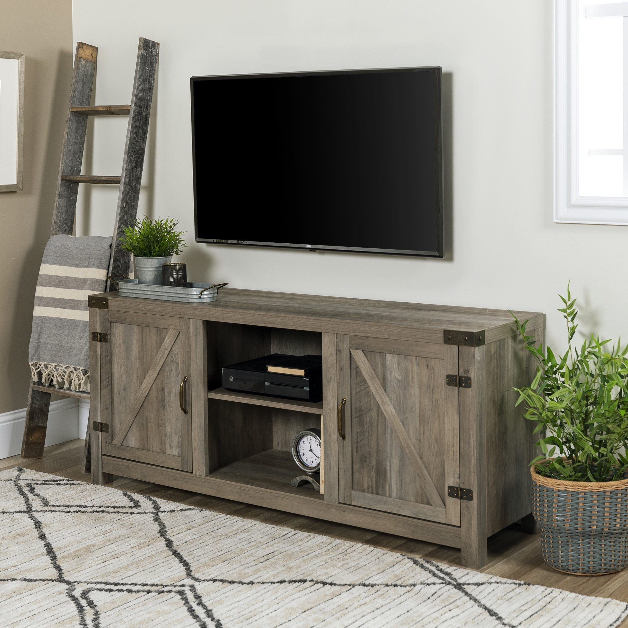 Recent Grey Tv Stands Throughout Weathered Grey Tv Stand (Gallery 17 of 20)
