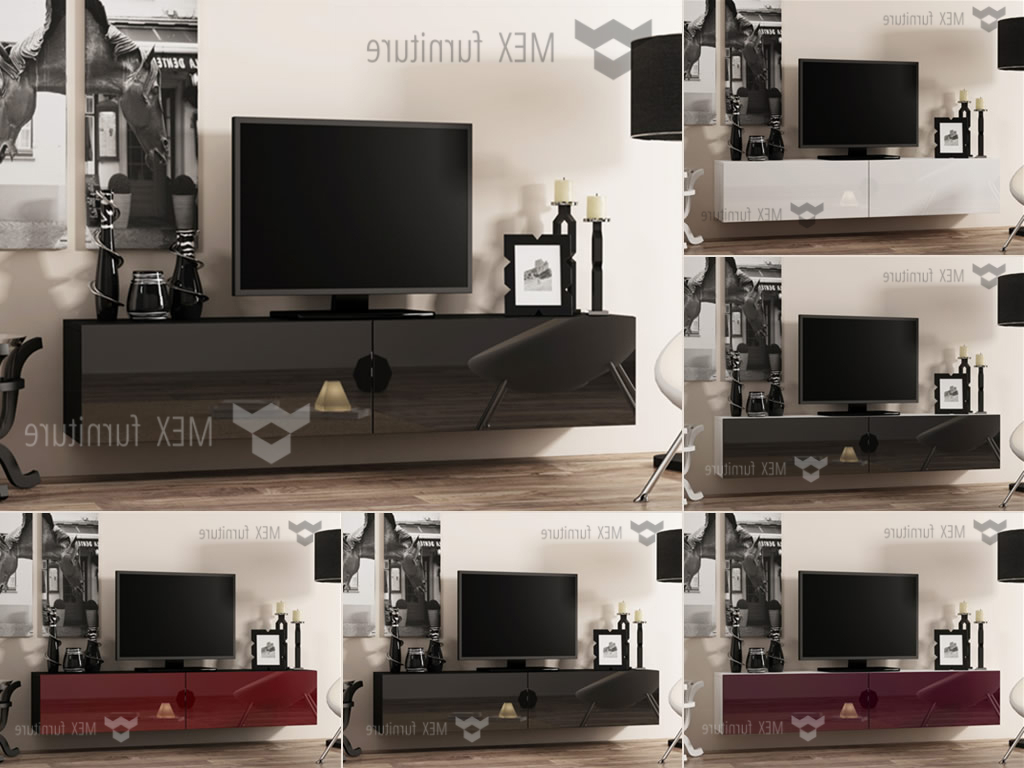 Recent High Gloss Tv Cabinets, Unit – Mex Furniture Pertaining To Led Tv Cabinets (View 17 of 20)