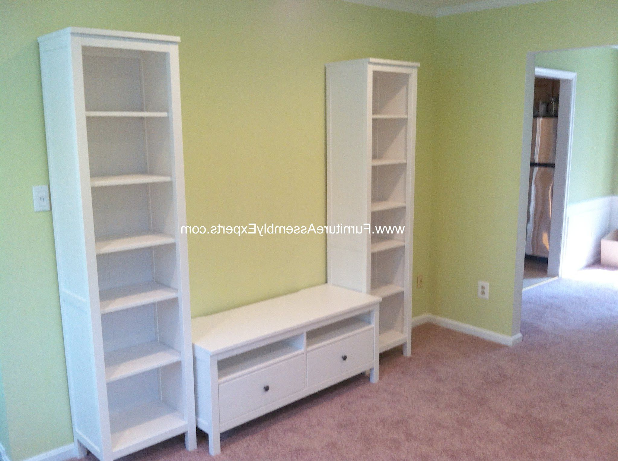 Recent Ikea Hemnes Tv Stand And Bookcases Assembled In Chevy Chase Md With Tv Stands With Bookcases (View 8 of 20)