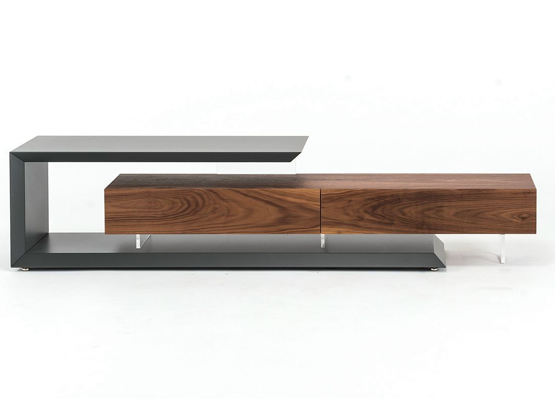 Recent Low Walnut Tv Cabinet Linkcattelan Italia Design Paolo Cattelan Within Dwell Tv Stands (Gallery 5 of 20)