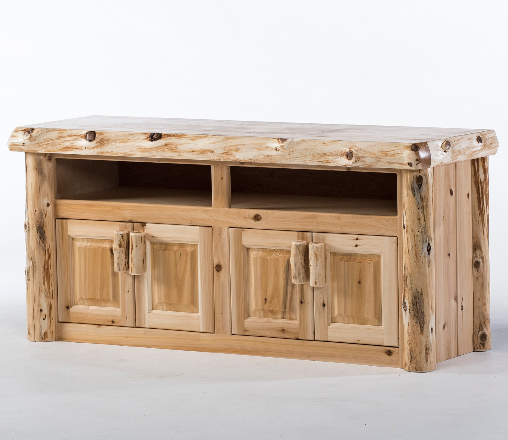 Recent Recycled Wood Tv Stands Inside Reclaimed Wood Tv Stands & Rustic Tv Stands: Log Tv Stand & Rustic (View 12 of 20)