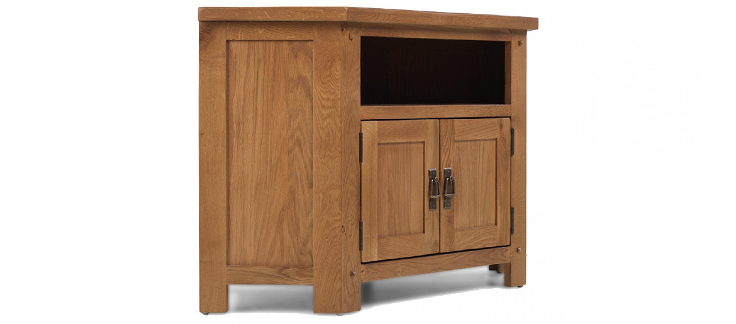 Recent Rustic Oak Corner Tv Cabinet (View 6 of 20)