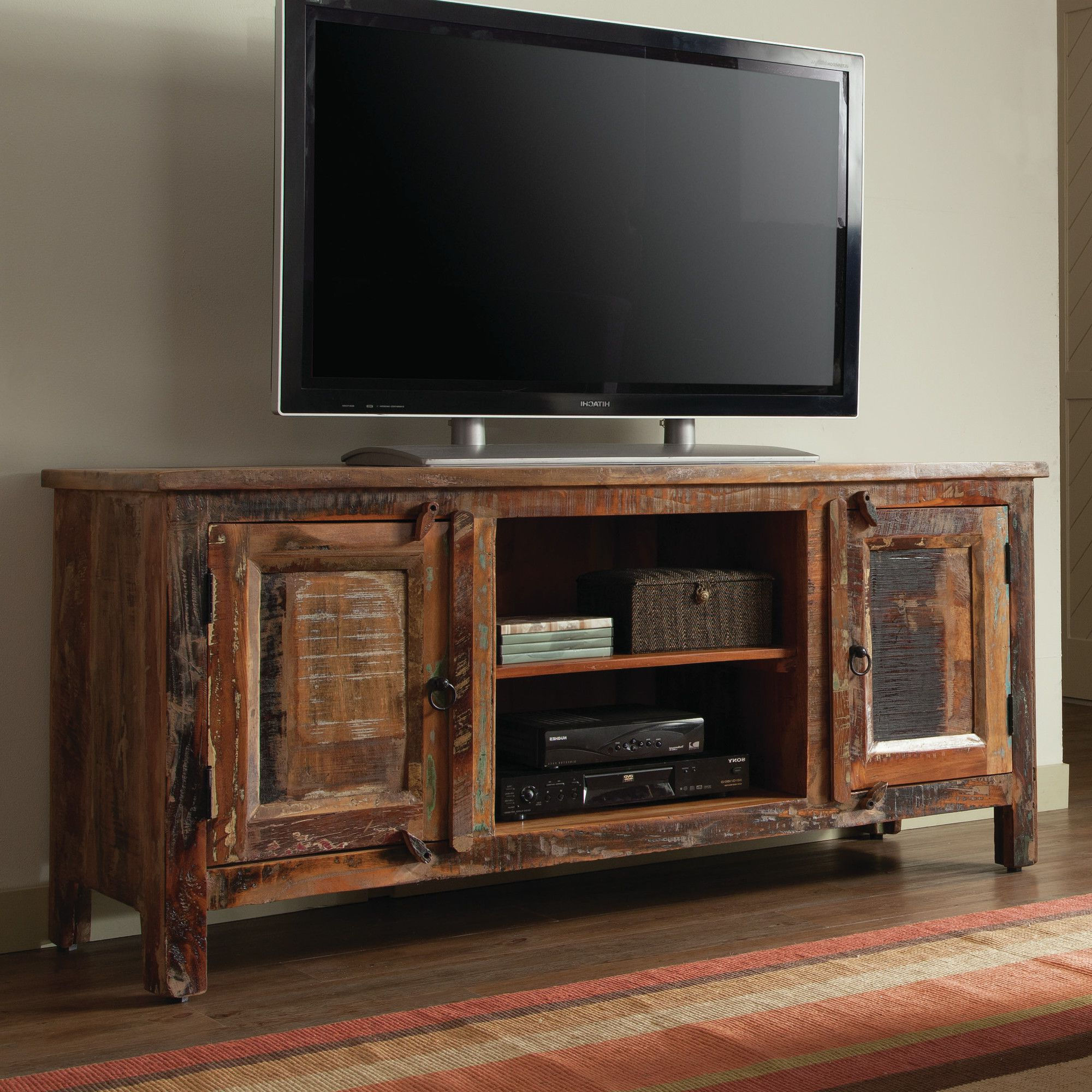"Recent Rustic Wood Tv Cabinets Intended For Zachariah 60"" Tv Stand (View 8 of 20)"
