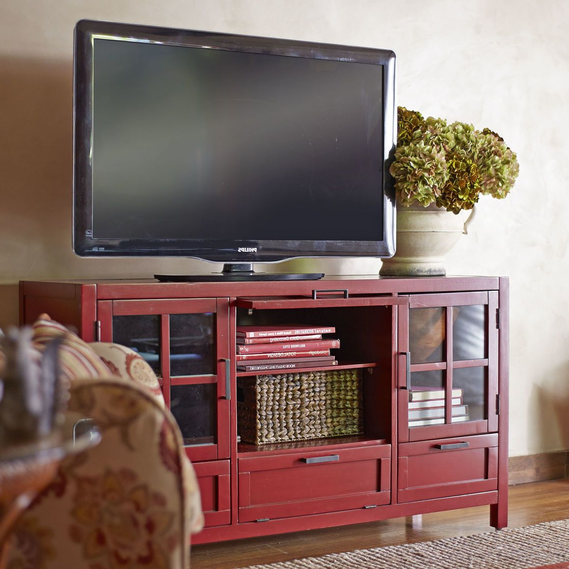 Recent Sausalito Medium Tv Stand – Antique Red (View 15 of 20)