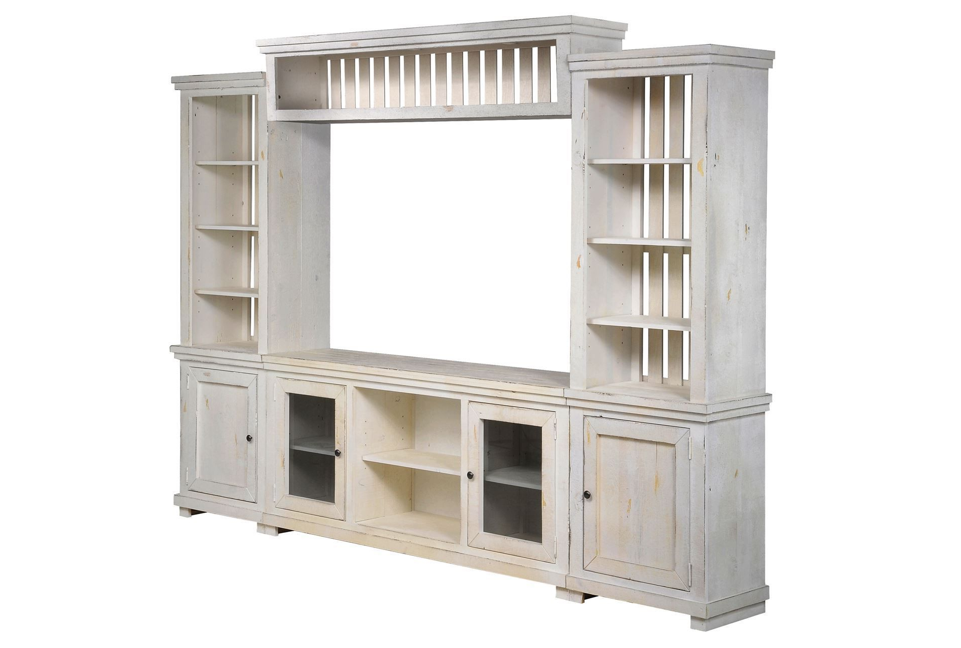 Recent Sinclair White 68 Inch Tv Stands Inside Sinclair White 4 Piece Entertainment – Like The Bookcase Part (View 12 of 20)