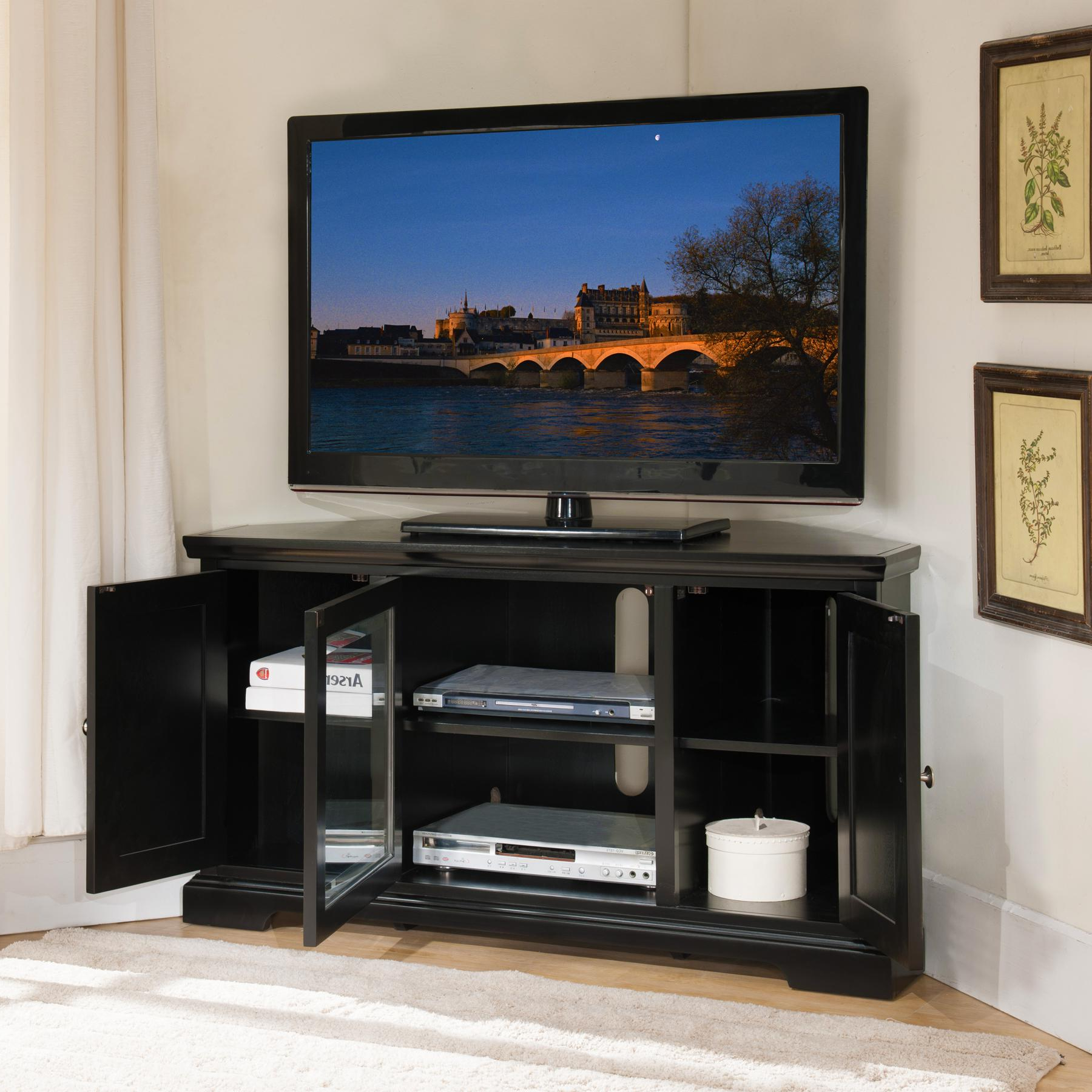 Recent Triangular Tv Stands Intended For An Overview Of Tv Stand For Corner – Furnish Ideas (View 4 of 20)