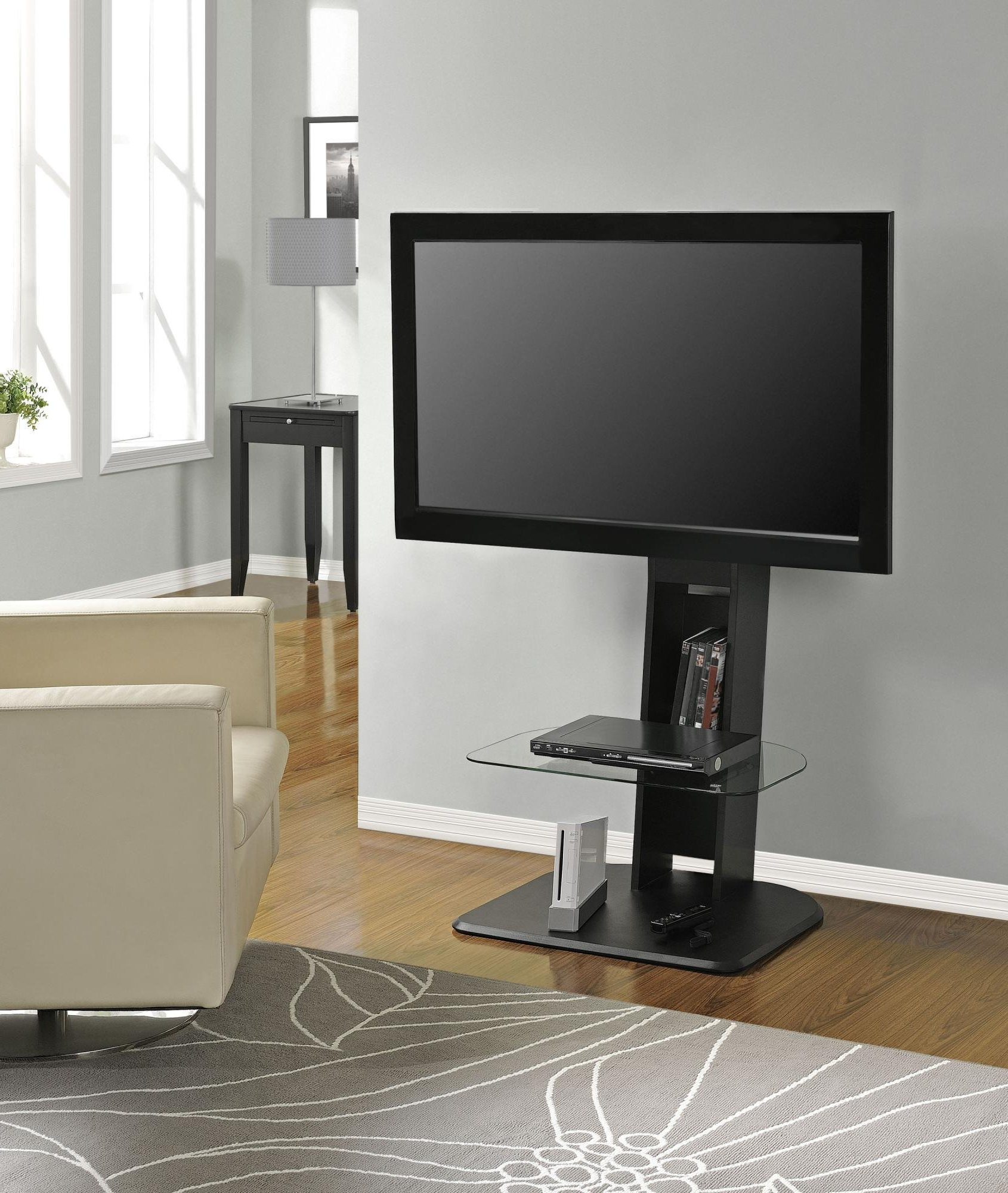 """Recent Tv Stands With Mount Intended For Ameriwood Home Galaxy Tv Stand With Mount For Tvs Up To 50"""", Black (Gallery 14 of 20)"""
