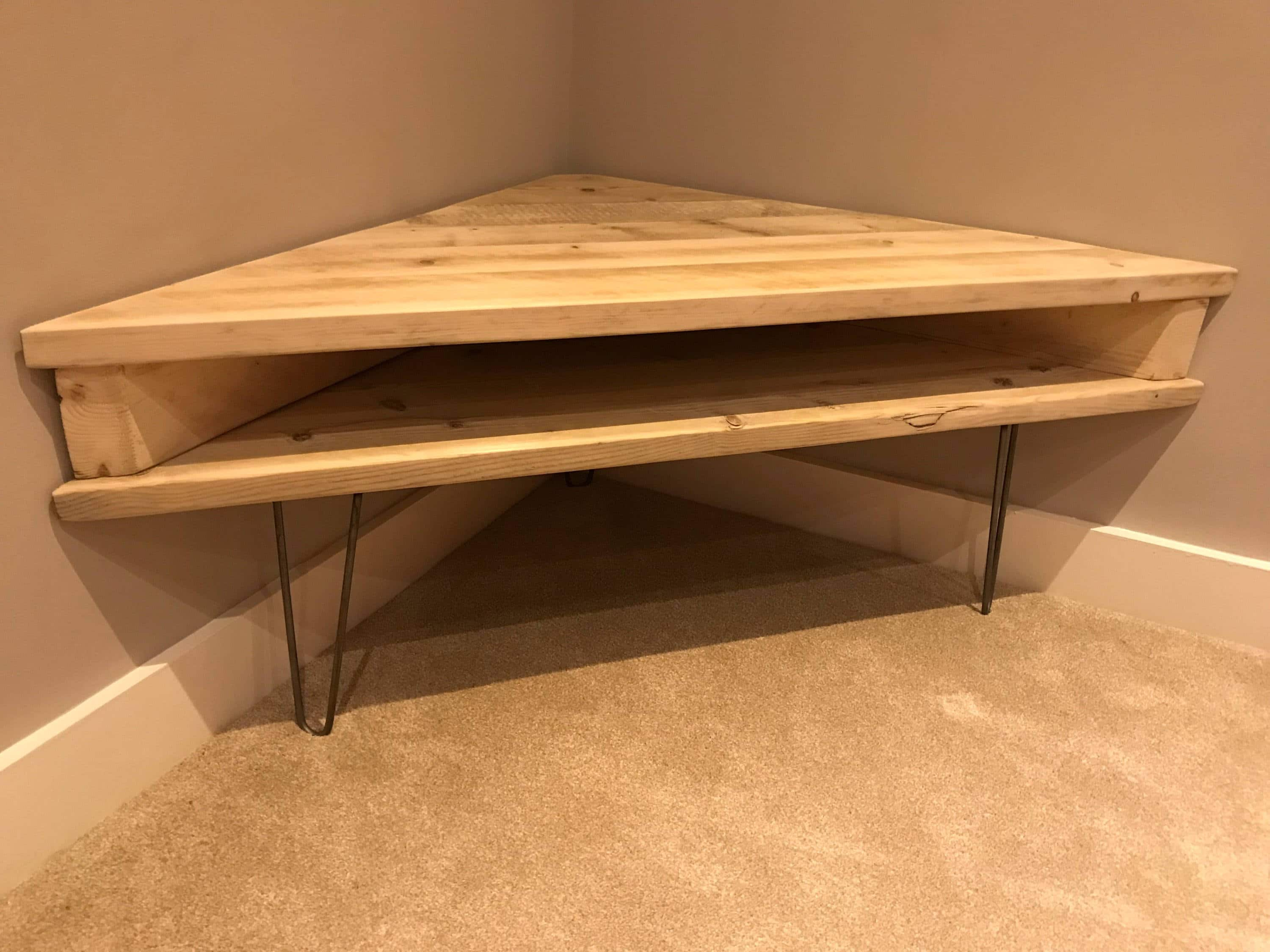 Reclaimed Solid Rustic Pine Corner Box Tv Unit Or Dressing Table Intended For Well Known Rustic Pine Tv Cabinets (View 11 of 20)