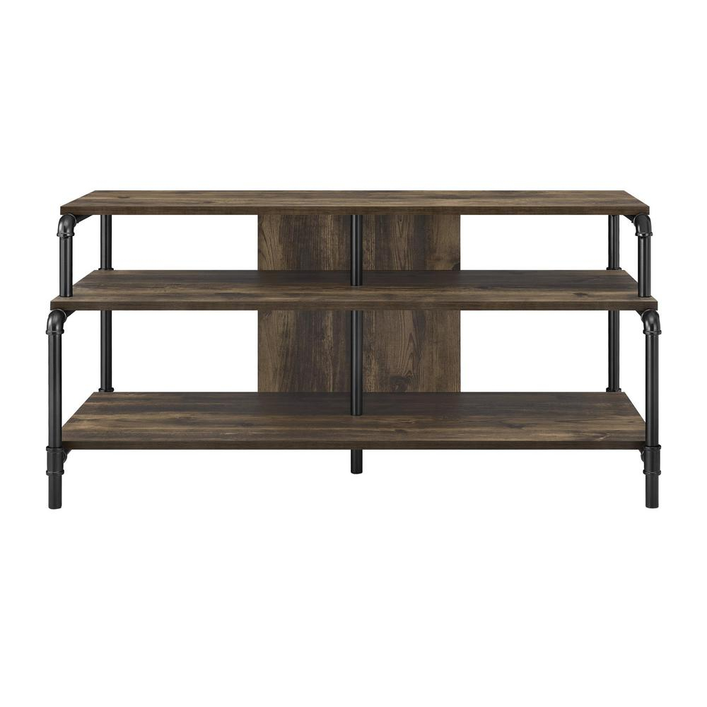 Reclaimed Wood And Metal Tv Stands For Most Recent Ameriwood Chesterfield Rustic 55 In. Tv Stand Hd80361 – The Home Depot (Gallery 13 of 20)