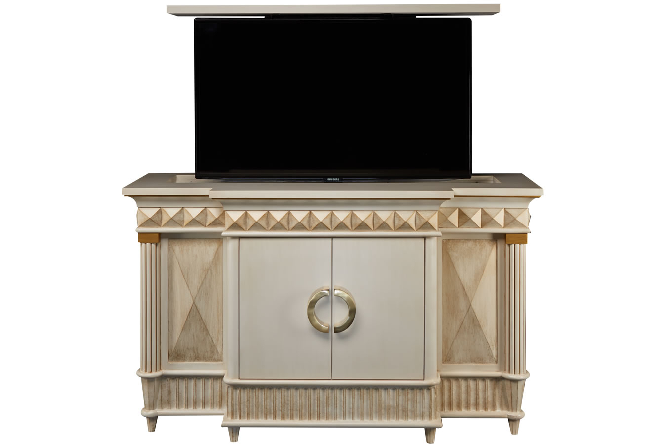 Rectractable Tv Lifts – Octavious Hidden Tv Lift Cabinet Pertaining To Current Gold Tv Cabinets (Gallery 4 of 20)