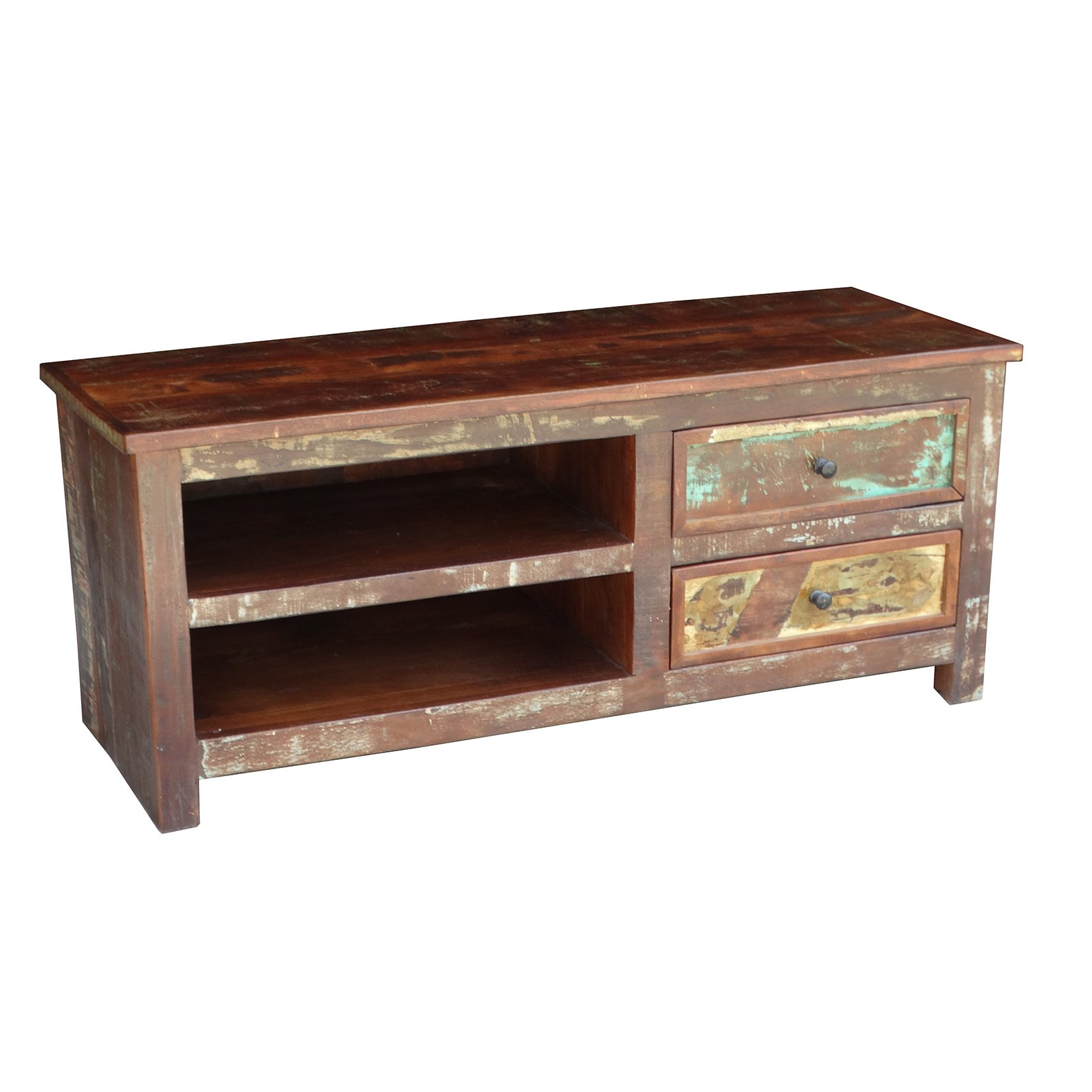 Recycled Wood Tv Stands Throughout Widely Used Shop Handmade Timbergirl Multicolor Recycled Wood Tv Stand (India (Gallery 8 of 20)