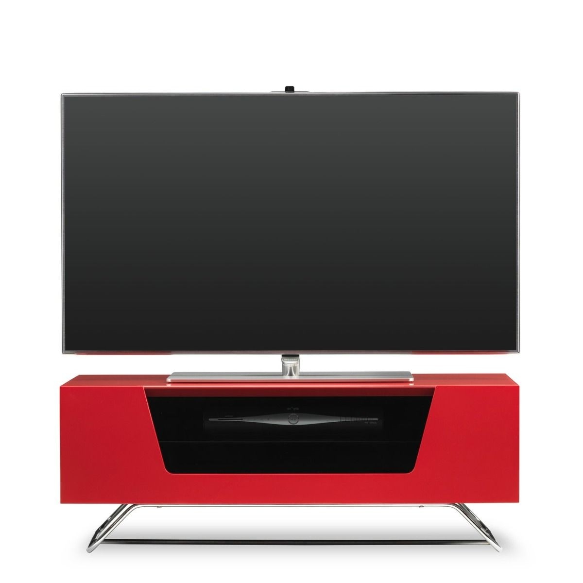 Red Gloss Tv Cabinets Within Well Known Alphason Chromium 2 Tv Stand Cro2 1000Cb Red Red Gloss Tv Cabinet (Gallery 13 of 20)