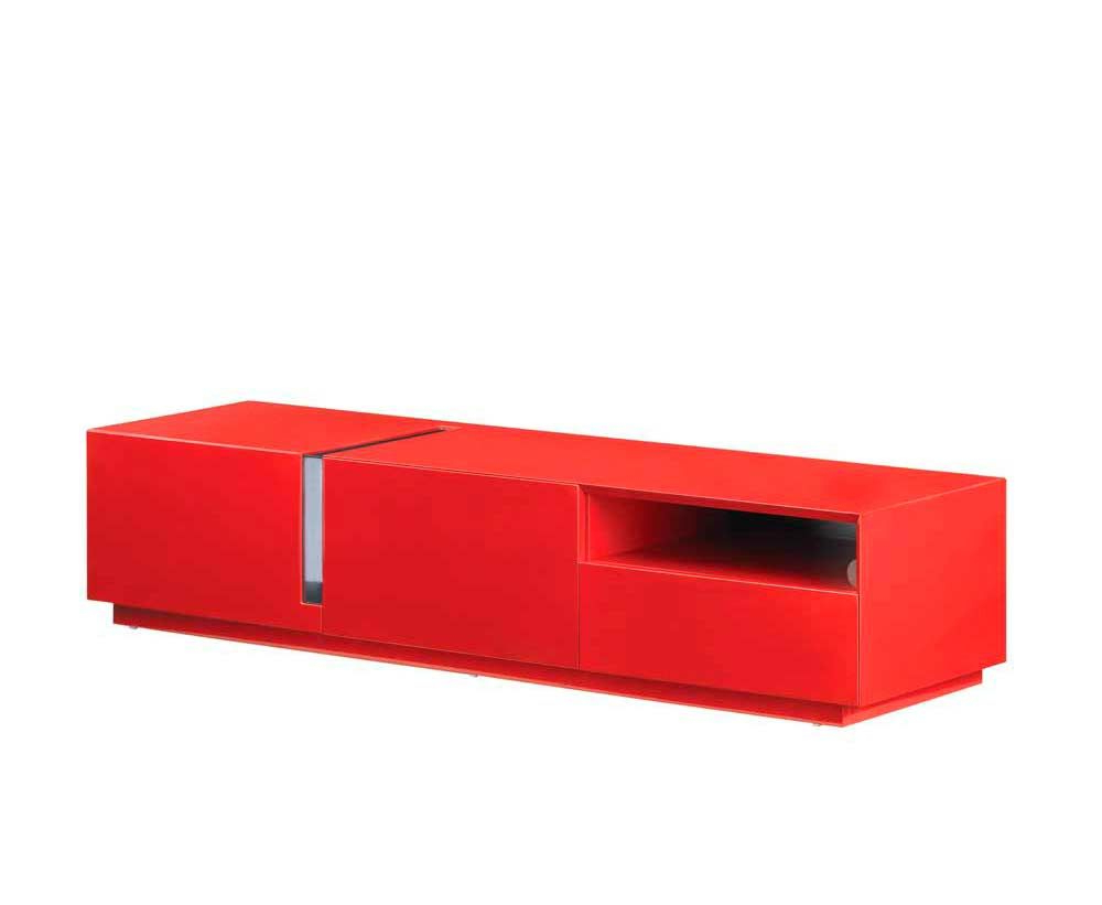 Red High Gloss Tv Unit Sj027 (Gallery 18 of 20)