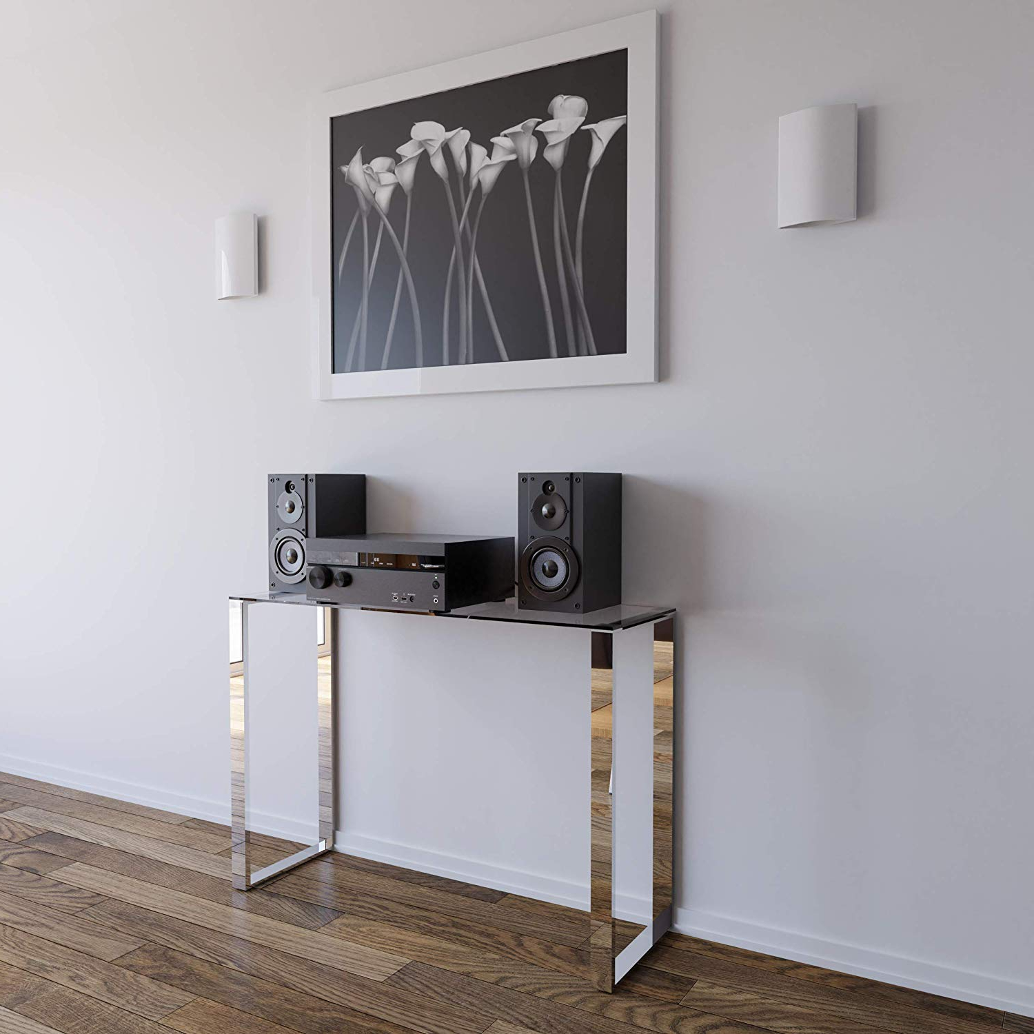 Remi Console Tables Regarding Preferred Amazon: Cortesi Home Remi Contemporary Glass Console Table With (View 3 of 20)