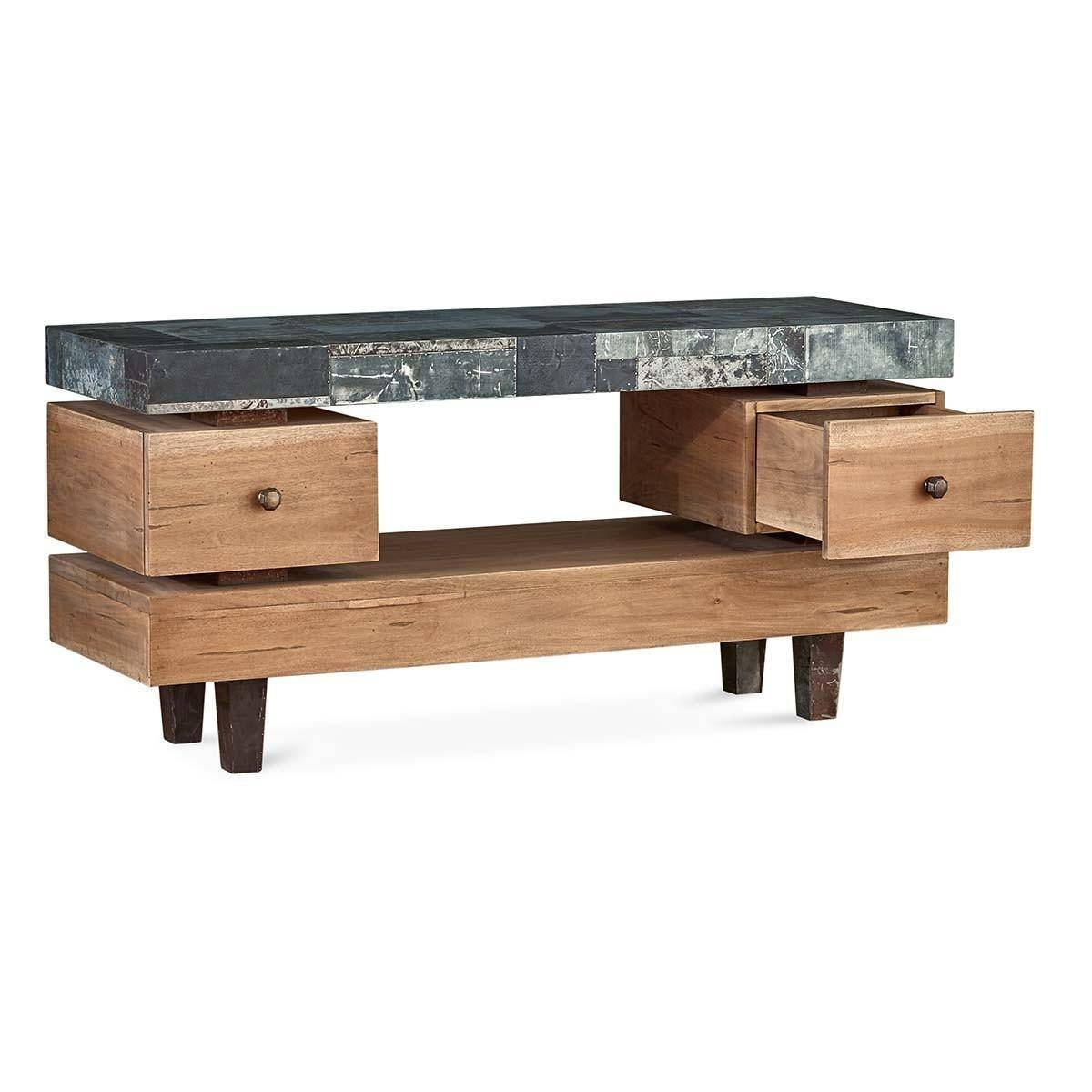 Remi Console Tables Regarding Preferred Bramble 25607 Vintage Oak Small Remi Tv Stand Solid Wood (bramble (View 17 of 20)