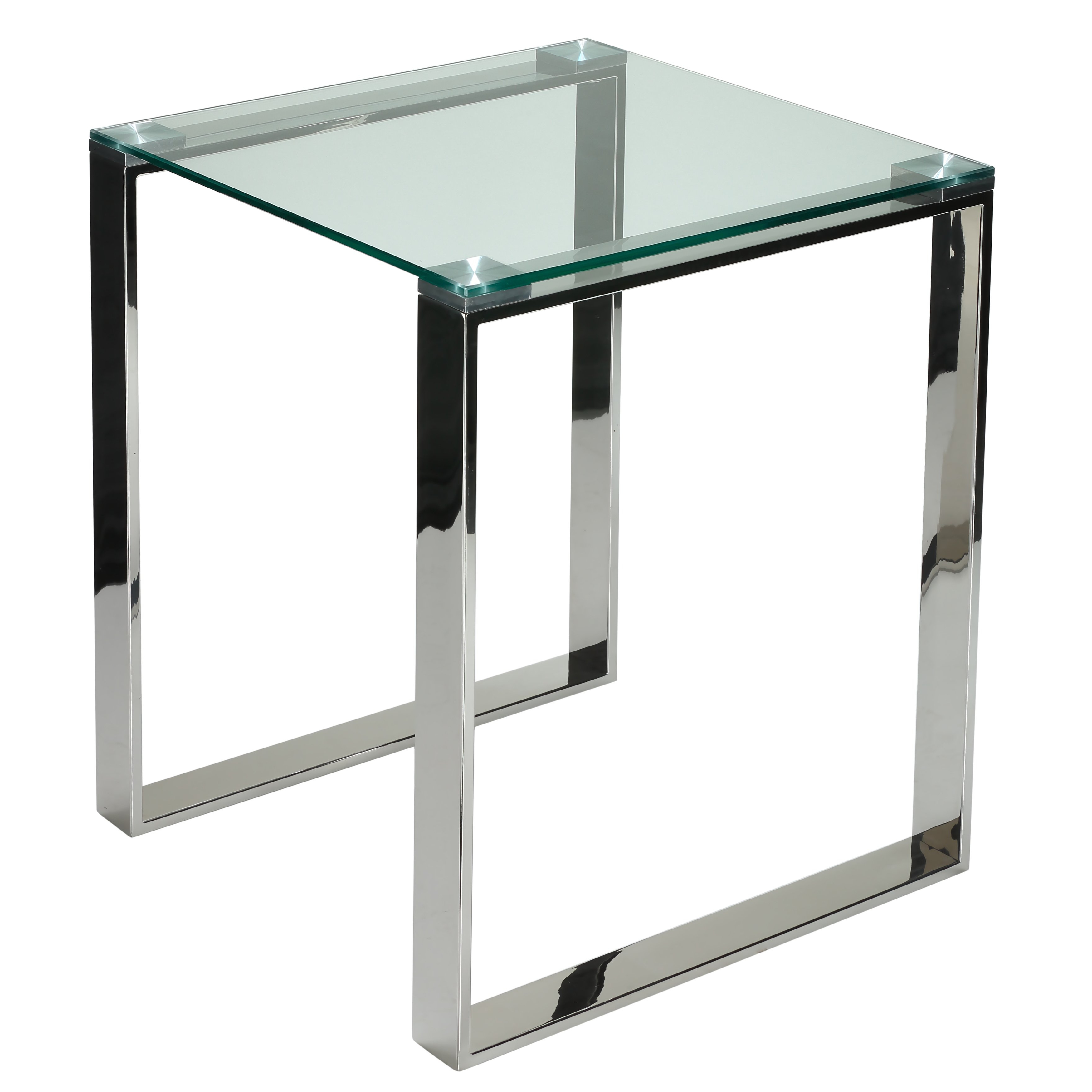 Remi Console Tables With 2017 Shop Cortesi Home Remi Contemporary Chrome Square Glass End Table (View 10 of 20)