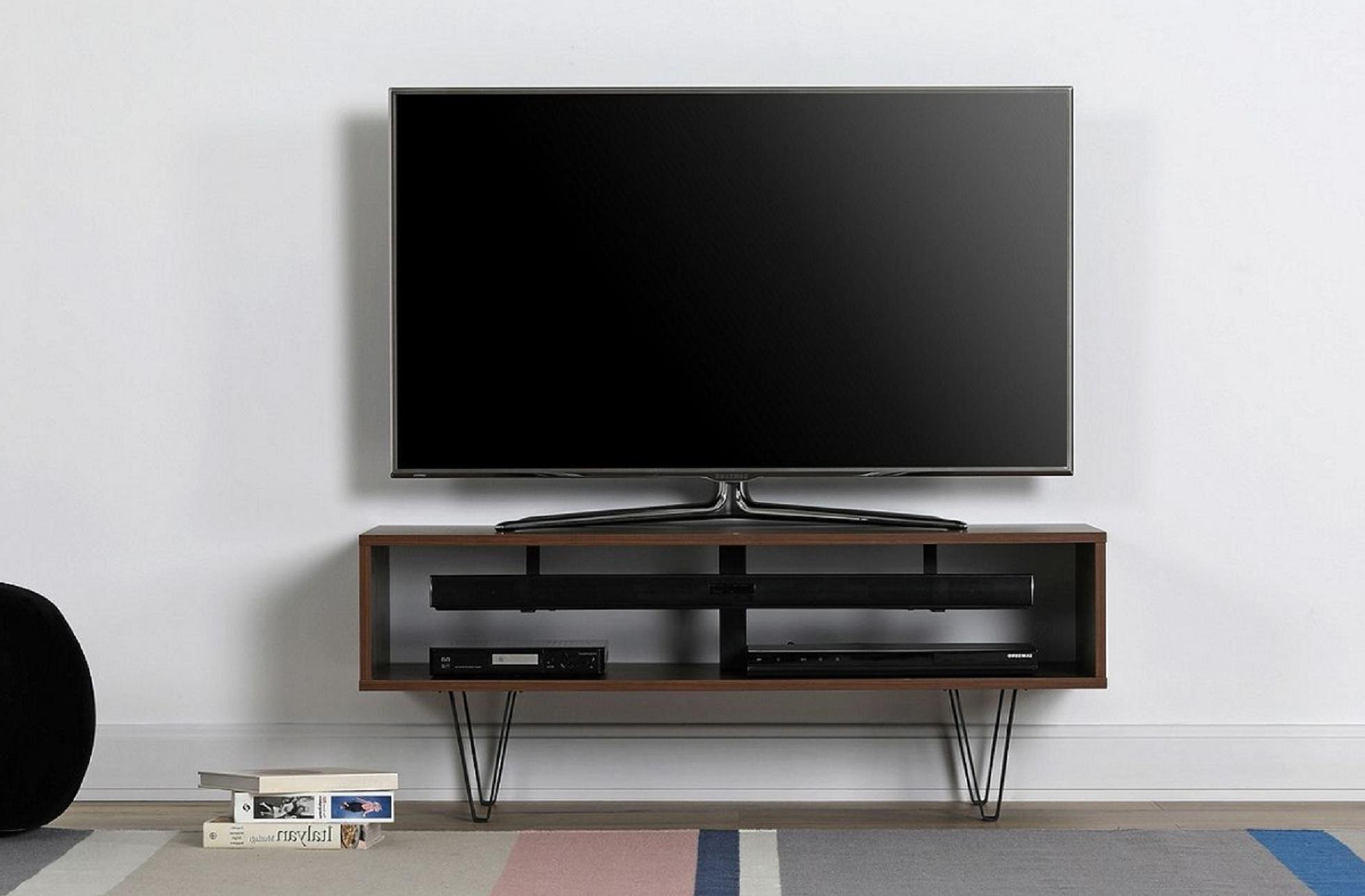 Richer Sounds Tv Stand Within Newest Off The Wall Chevron 1100 (Walnut) (View 13 of 20)