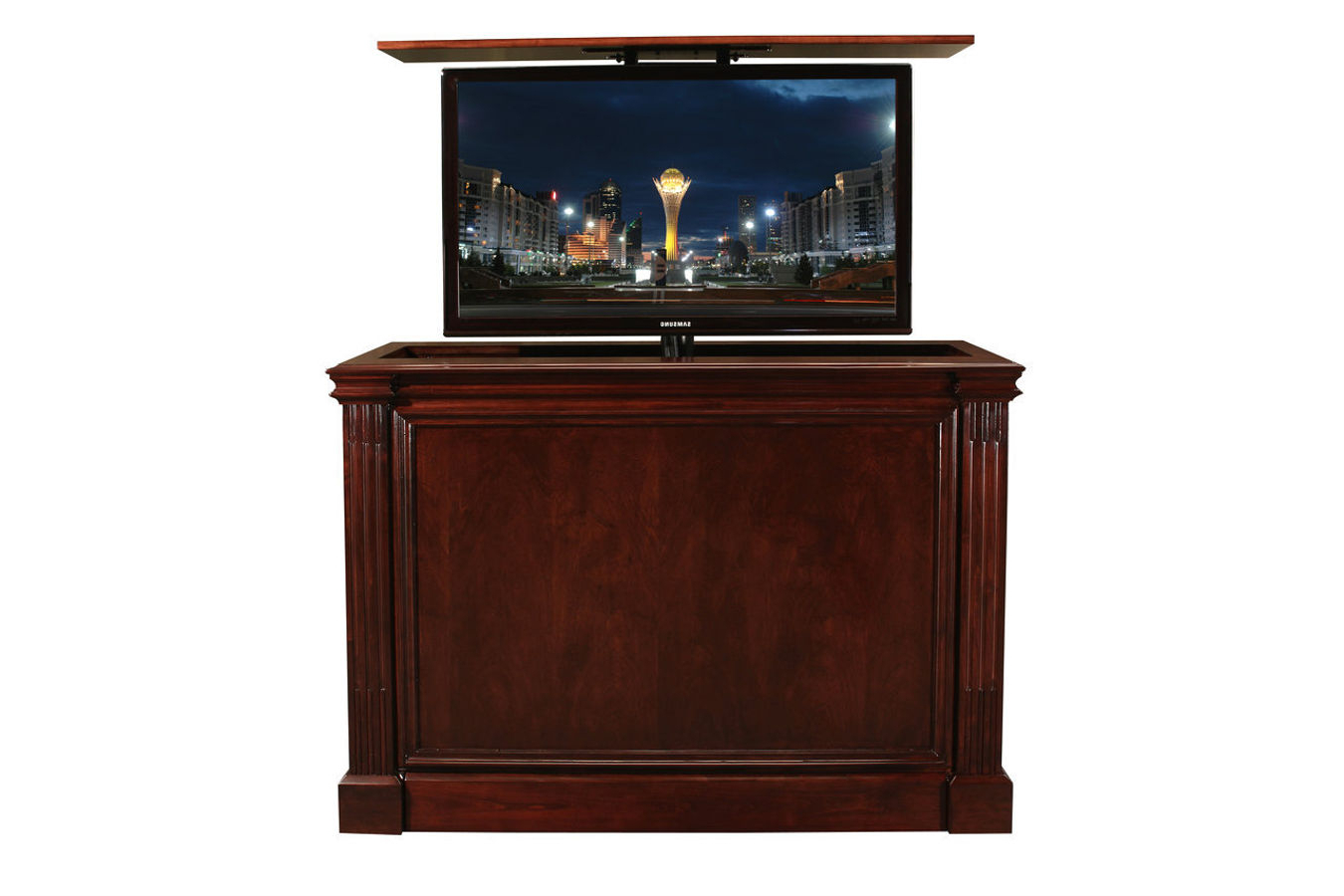 Ritz Cabernet Custom Retractable Tv Stand (View 10 of 20)