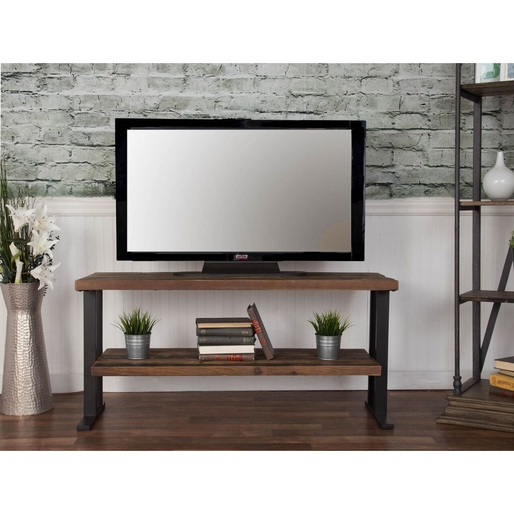 Rustic Brown Industrial 50 Inch Tv Stand – Brixton (View 2 of 20)