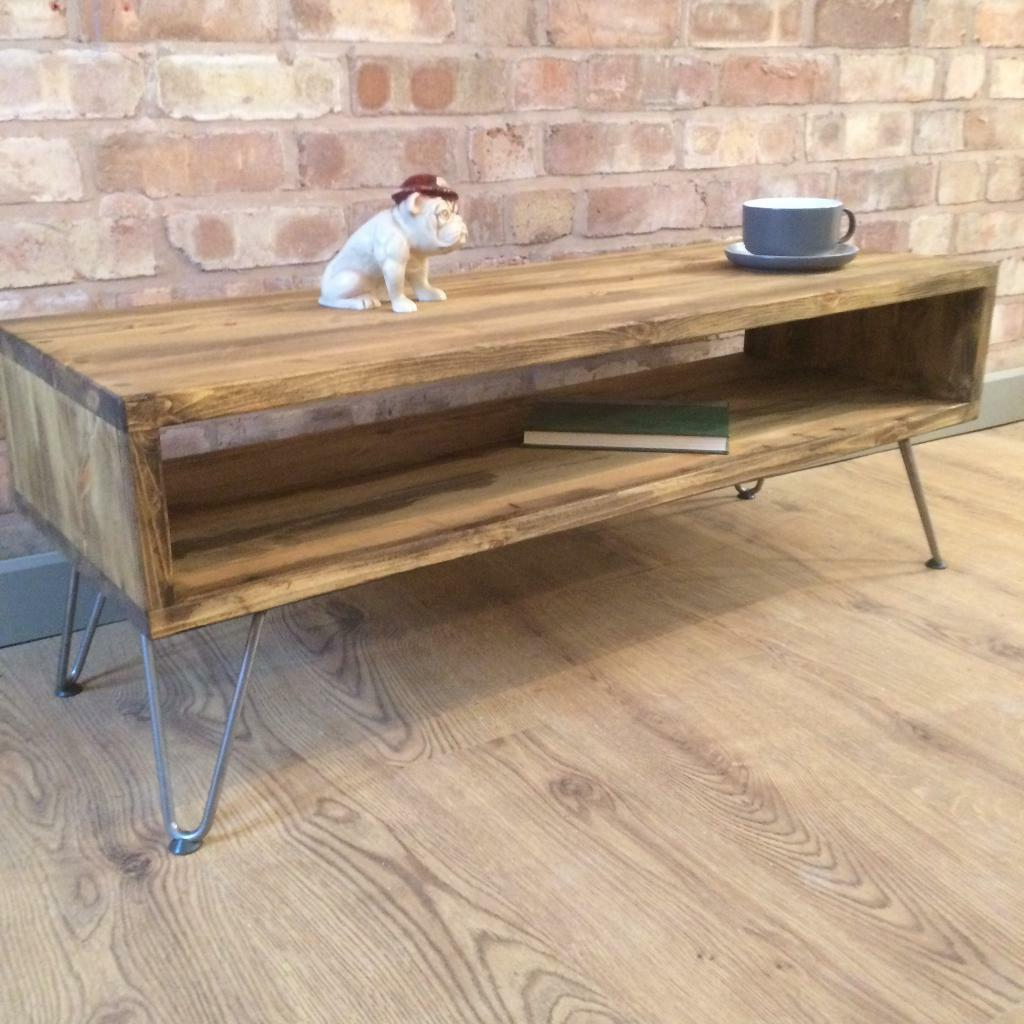 Rustic Coffee Table And Tv Stand Intended For Widely Used Rustic Industrial Reclaimed Wood Style Vintage Retro Coffee Table (View 12 of 20)