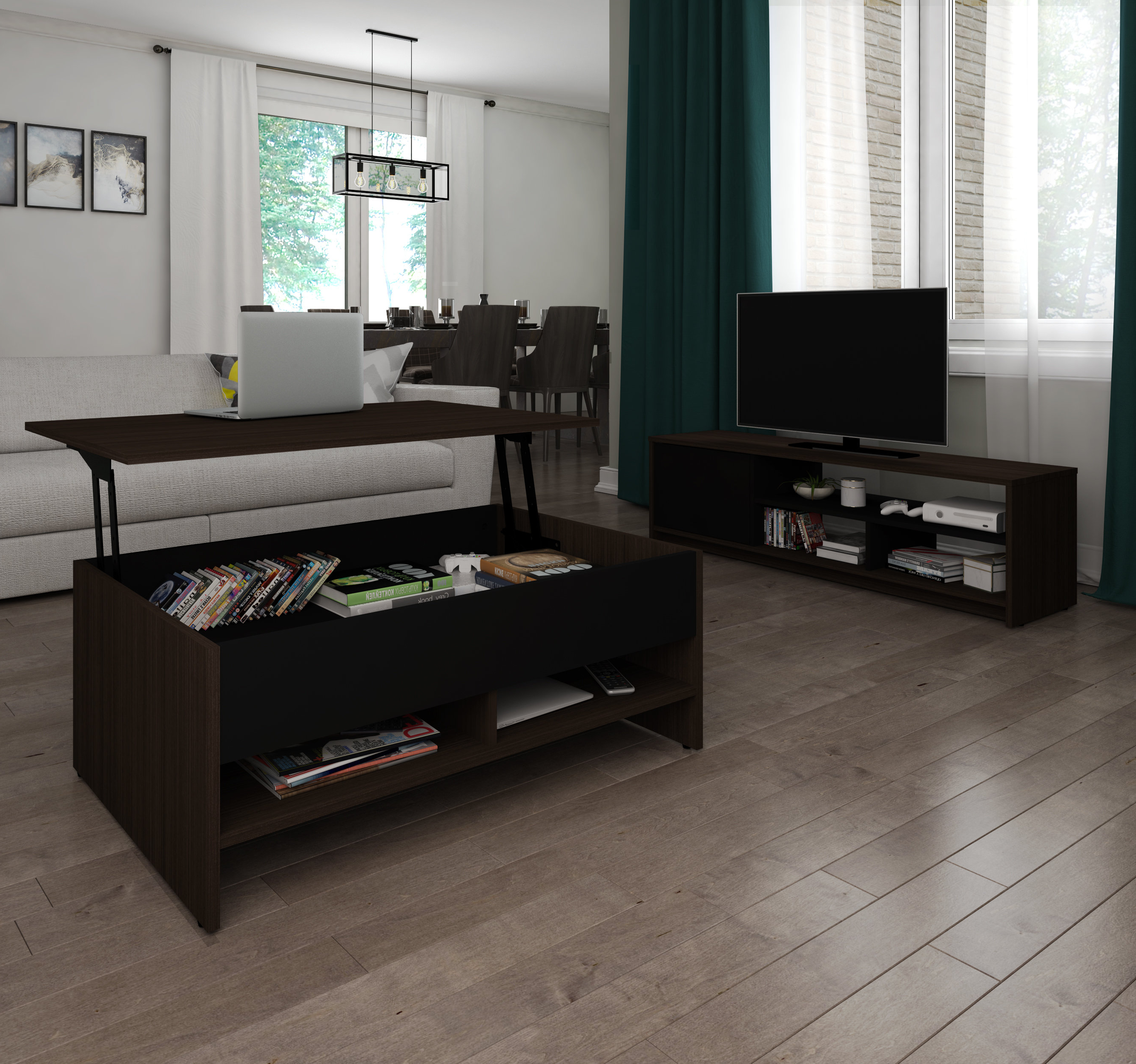 Rustic Coffee Table And Tv Stand Regarding Most Recent Coffee Table And Tv Stand Set (View 14 of 20)