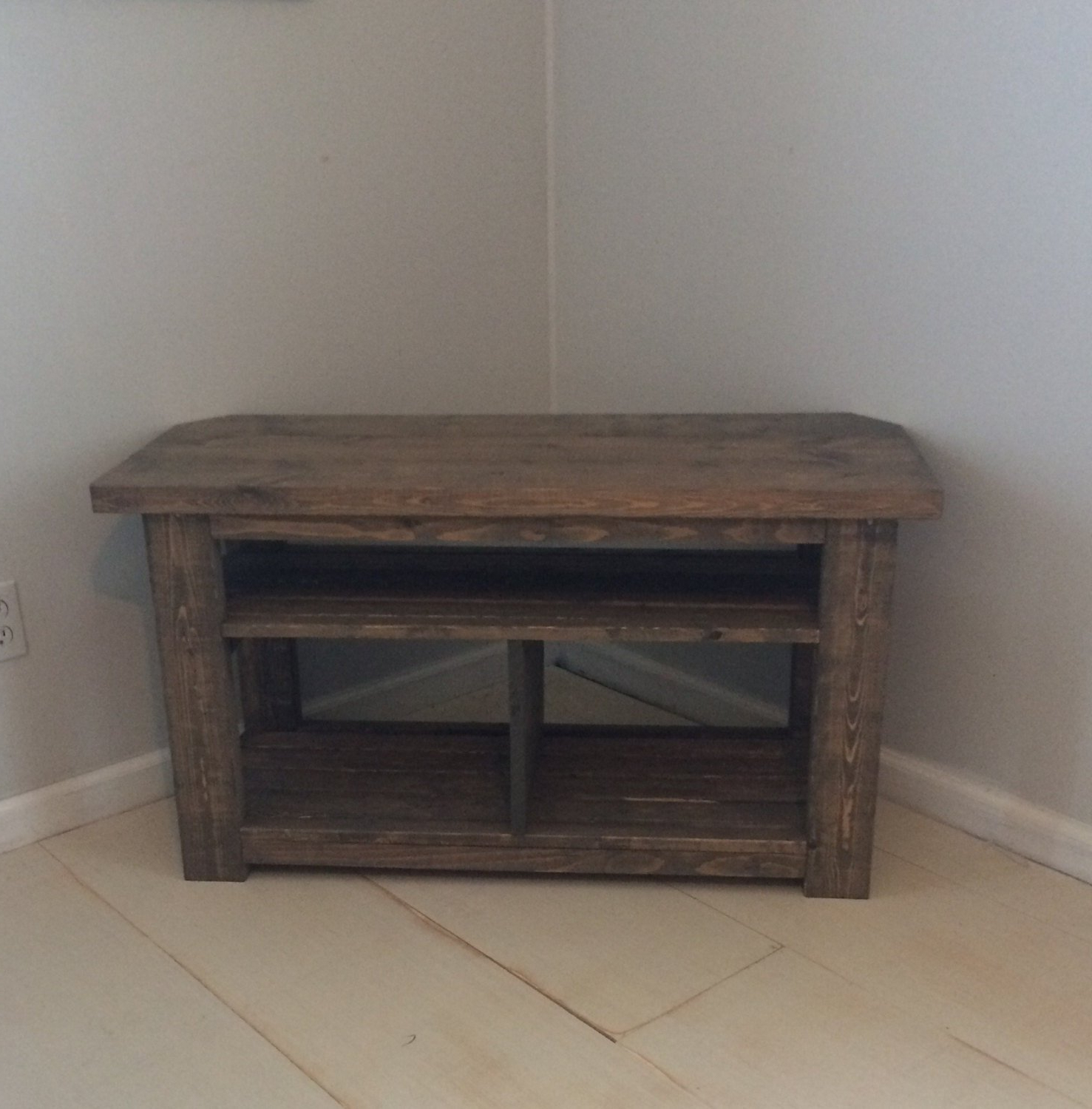 Rustic Corner Tv Stands In Well Liked 42 Rustic Corner Tv Wood Console Table Bar Console Table (Gallery 17 of 20)
